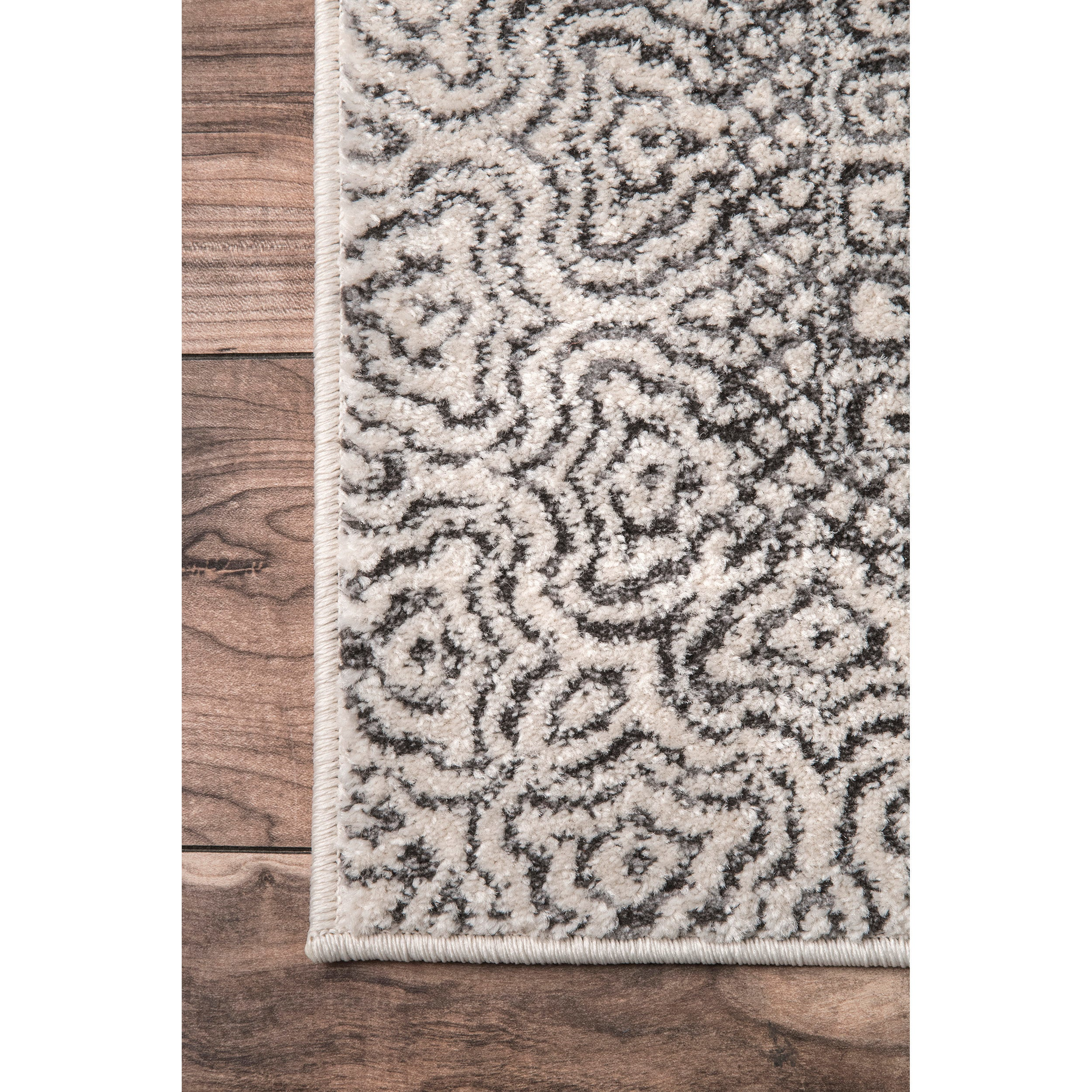 Nuloom Aztec Light Grey Print Area Rug 5 X 7 On Free Shipping Today 19893157