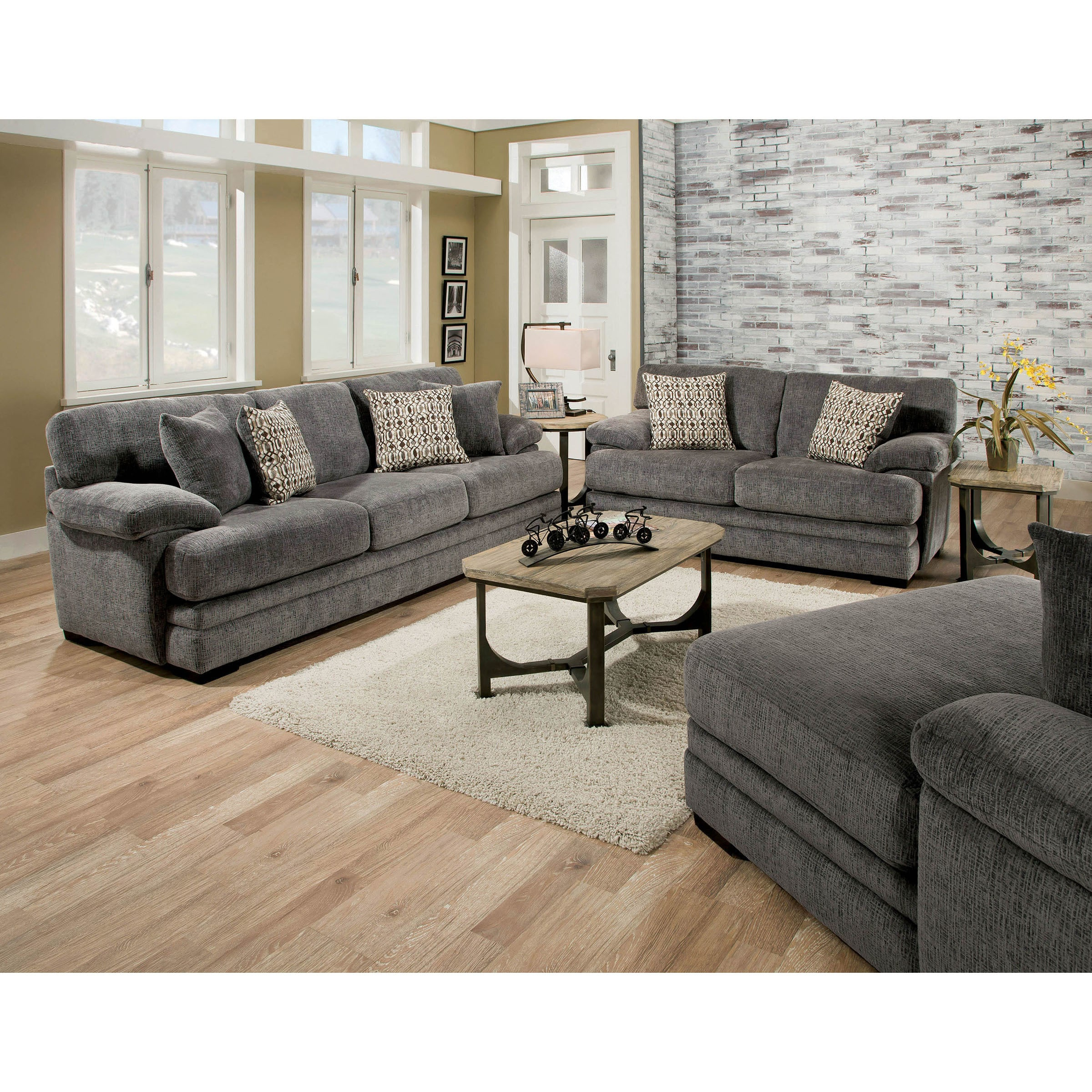 Shop Furniture Of America Eloisa Transitional Pillow Top Plush Sofa   On  Sale   Free Shipping Today   Overstock.com   19893728