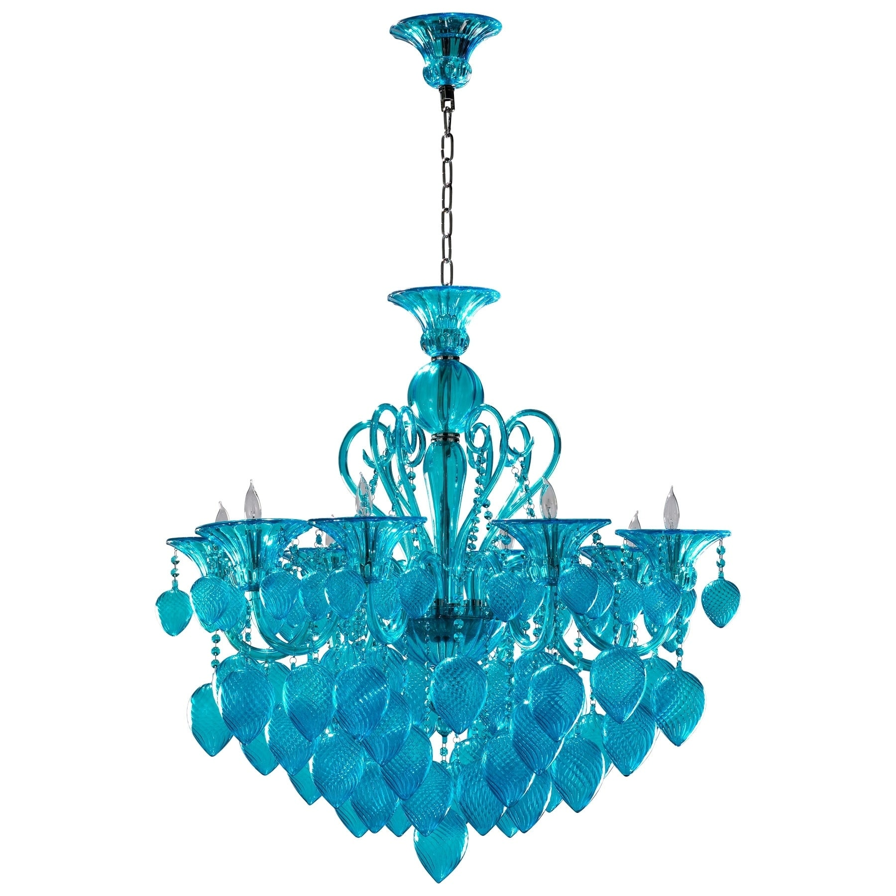 Bella Vetro Aqua Blue Glass Chandelier Free Shipping Today