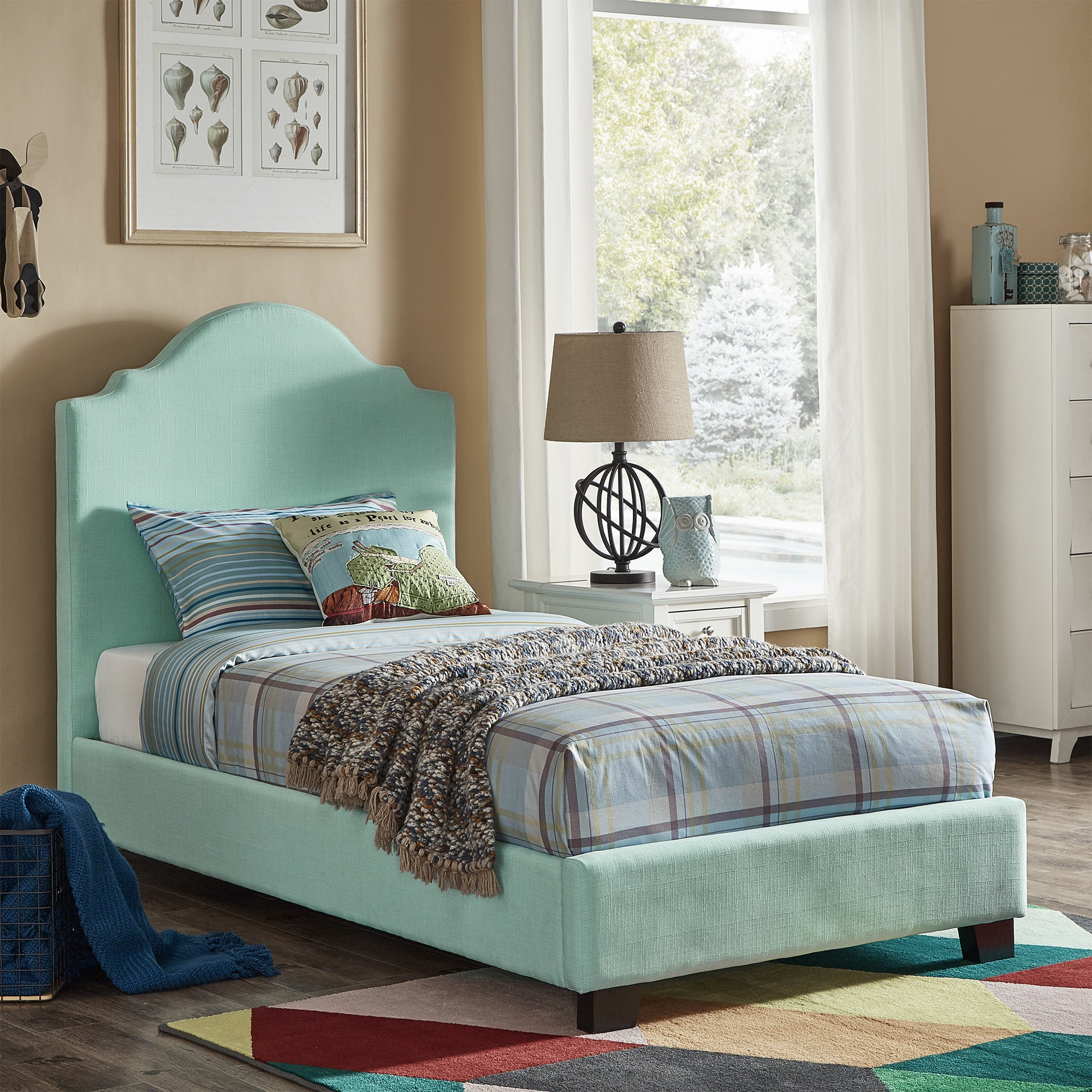 Cara Upholstered Twin Bed by iNSPIRE Q Junior - Free Shipping Today -  Overstock.com - 25819368