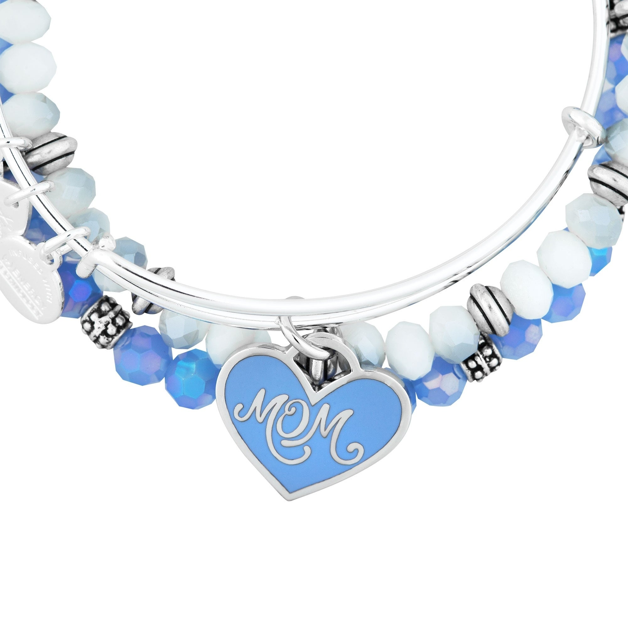 4379dbe123ef1d Shop Alex and Ani Mom Set of Three Bangle Bracelets - Blue - Free ...
