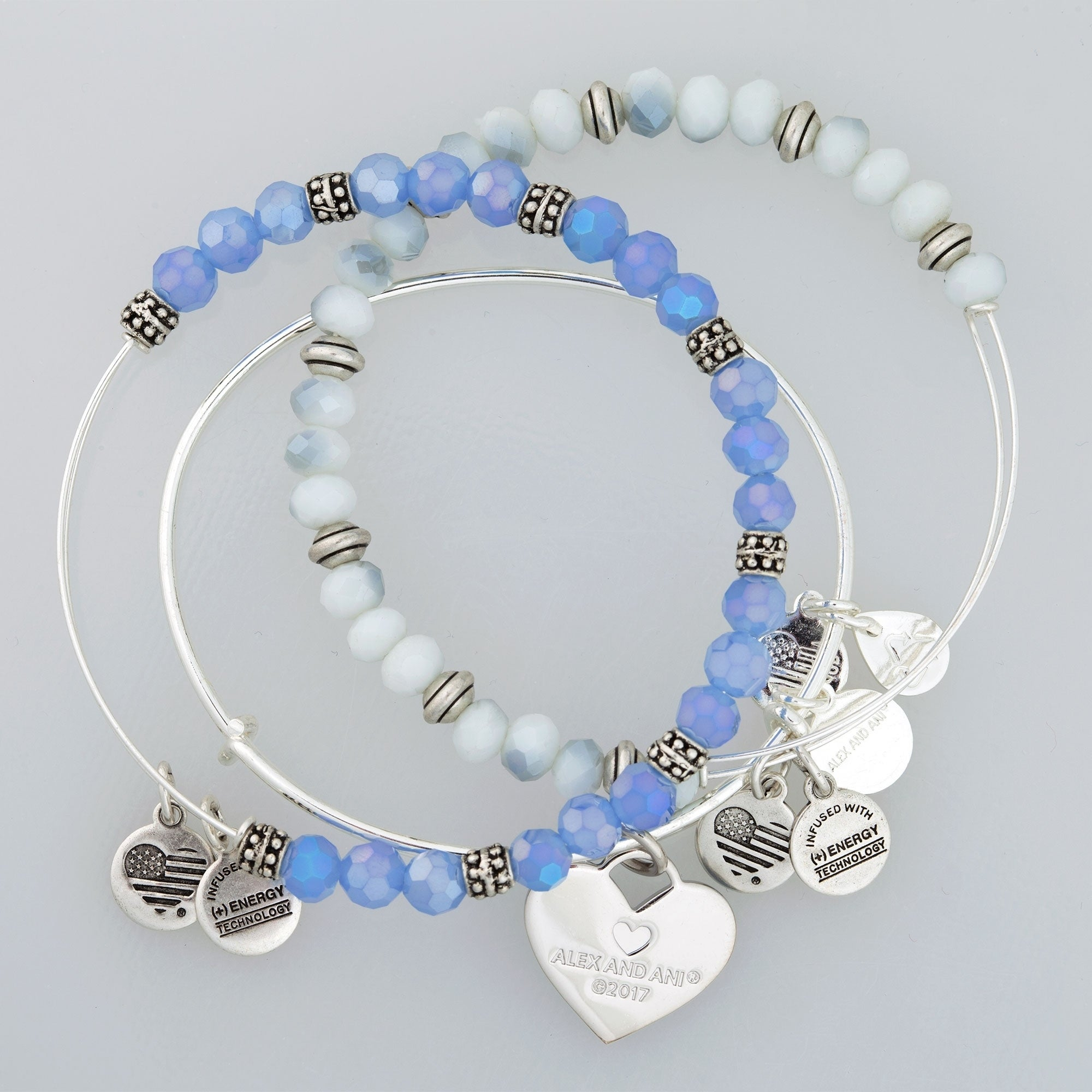 7dc0bb8e468b98 Shop Alex and Ani Mom Set of Three Bangle Bracelets - Blue - Free Shipping  Today - Overstock - 19895291
