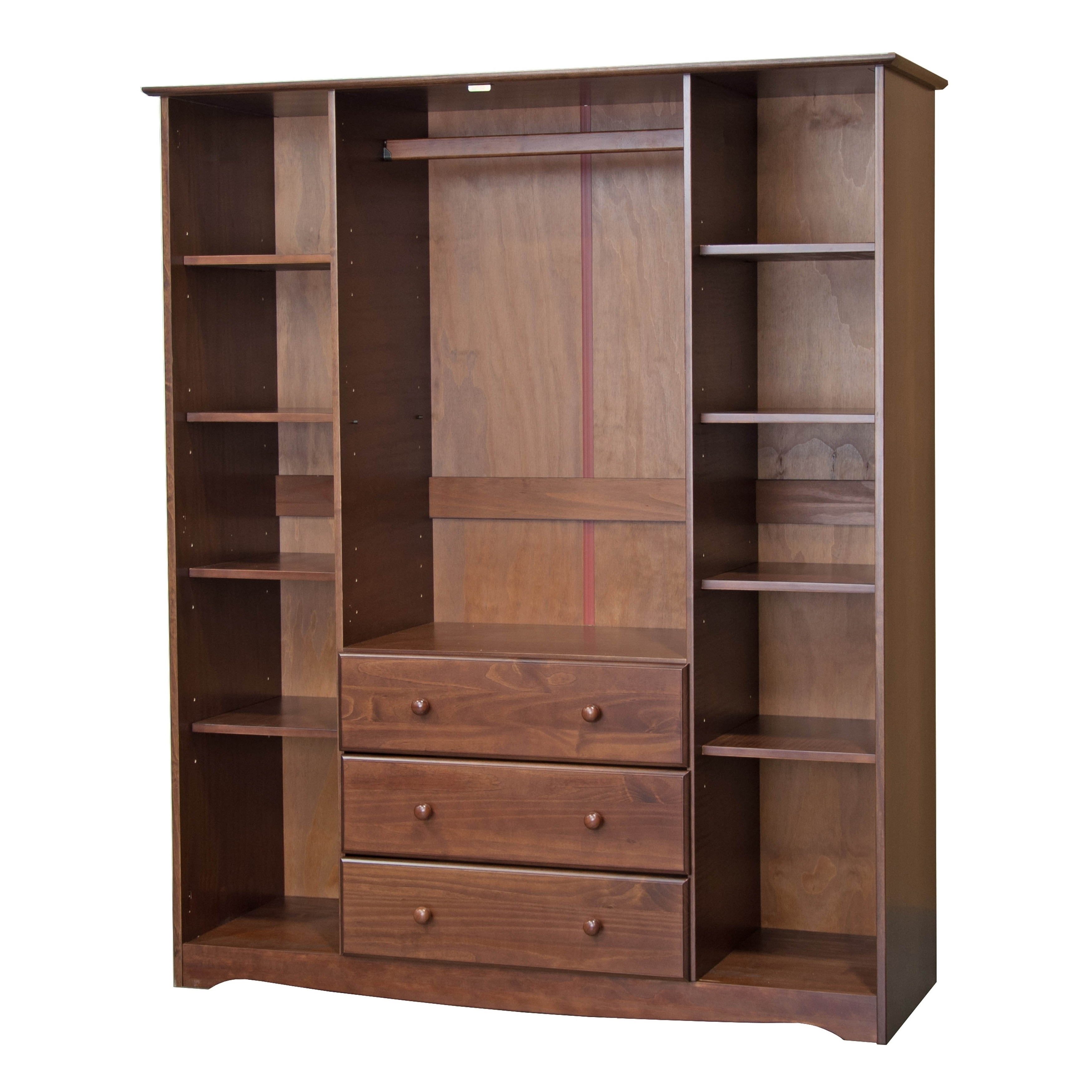Family Wardrobe Armoire Solid Wood Optional Small Shelves Set Of 4 13 75 W X 17 25 D 0 H Free Shipping Today 19897076