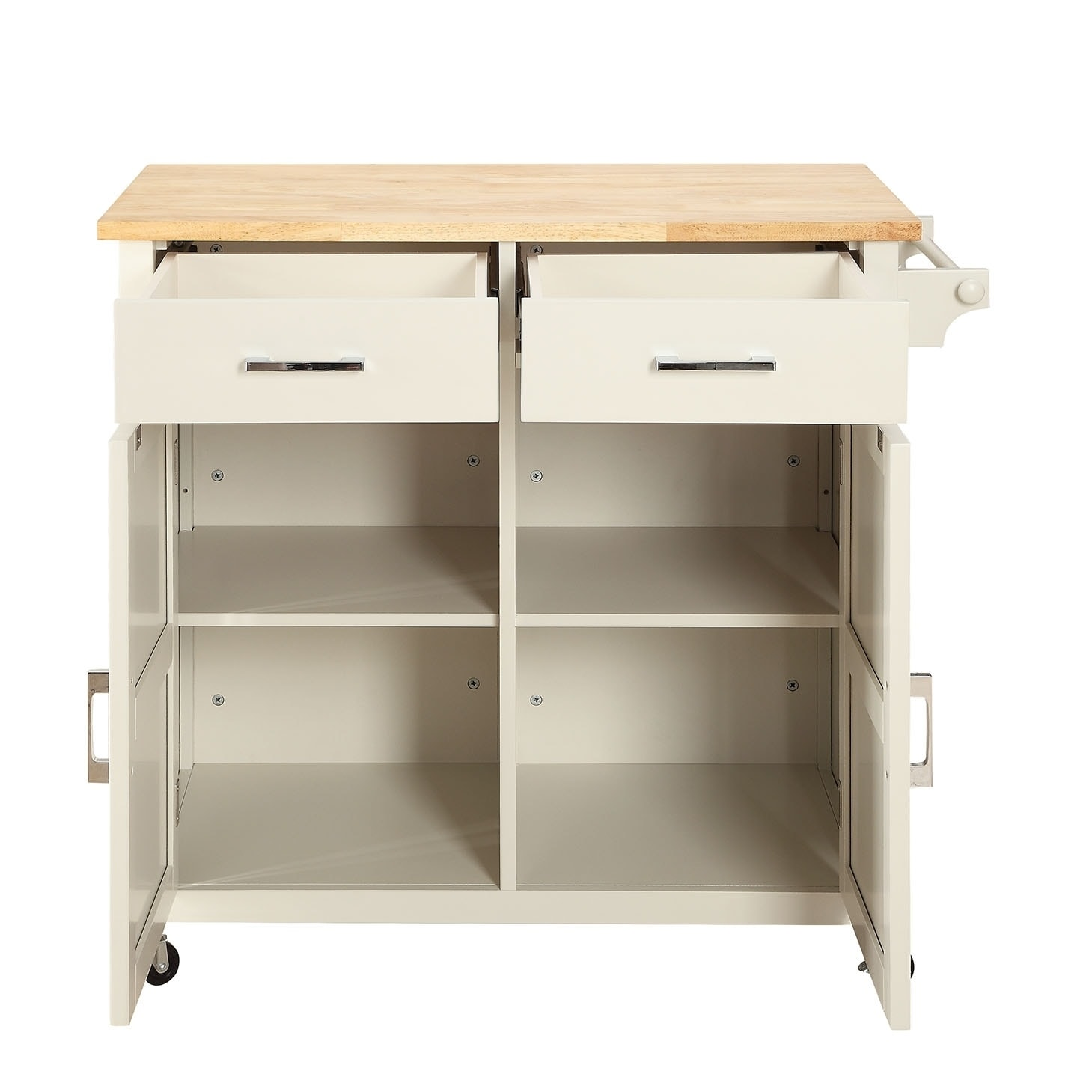 Macie Solid Wood Small Kitchen Cart - Free Shipping Today ...