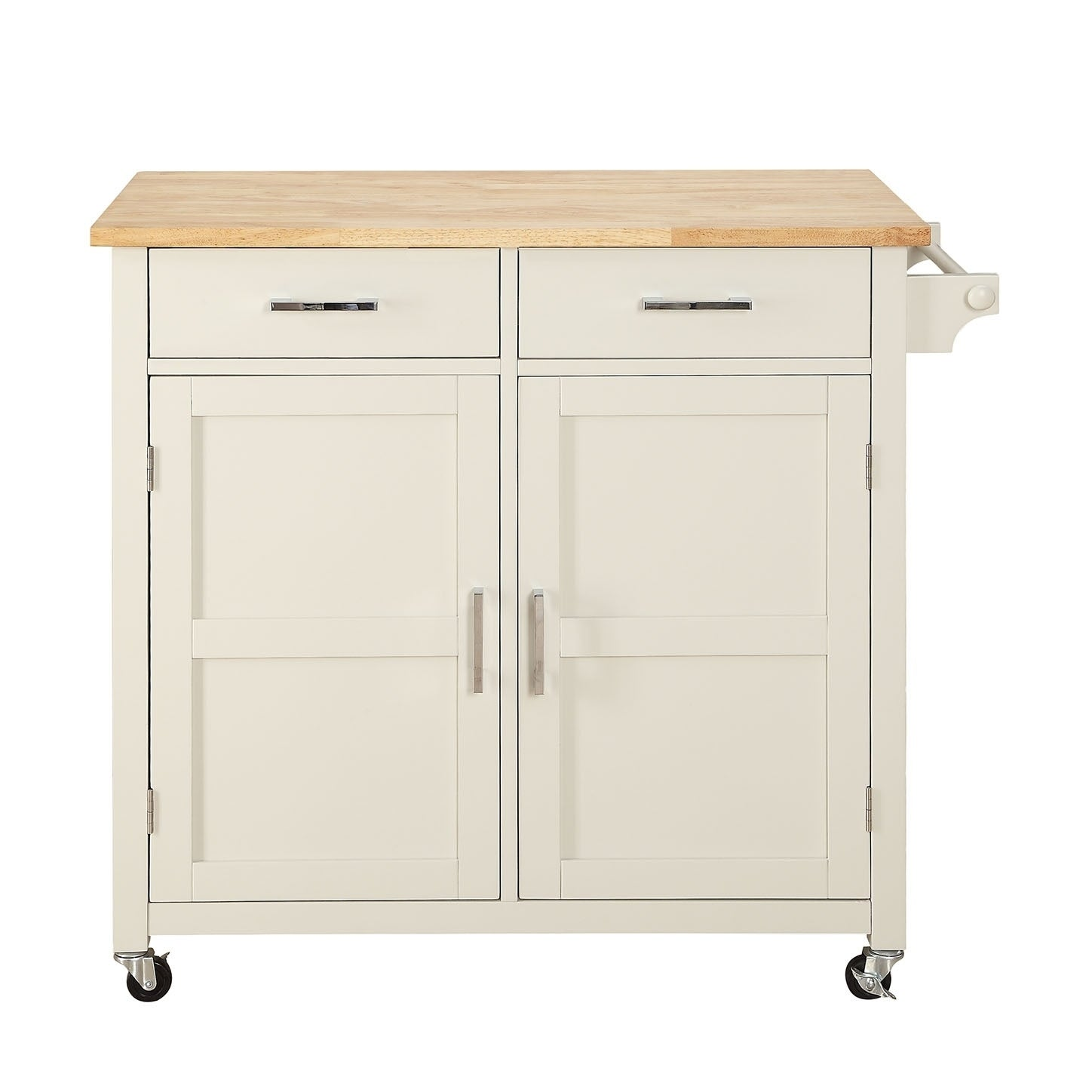 Shop macie solid wood small kitchen cart free shipping today overstock com 19897294