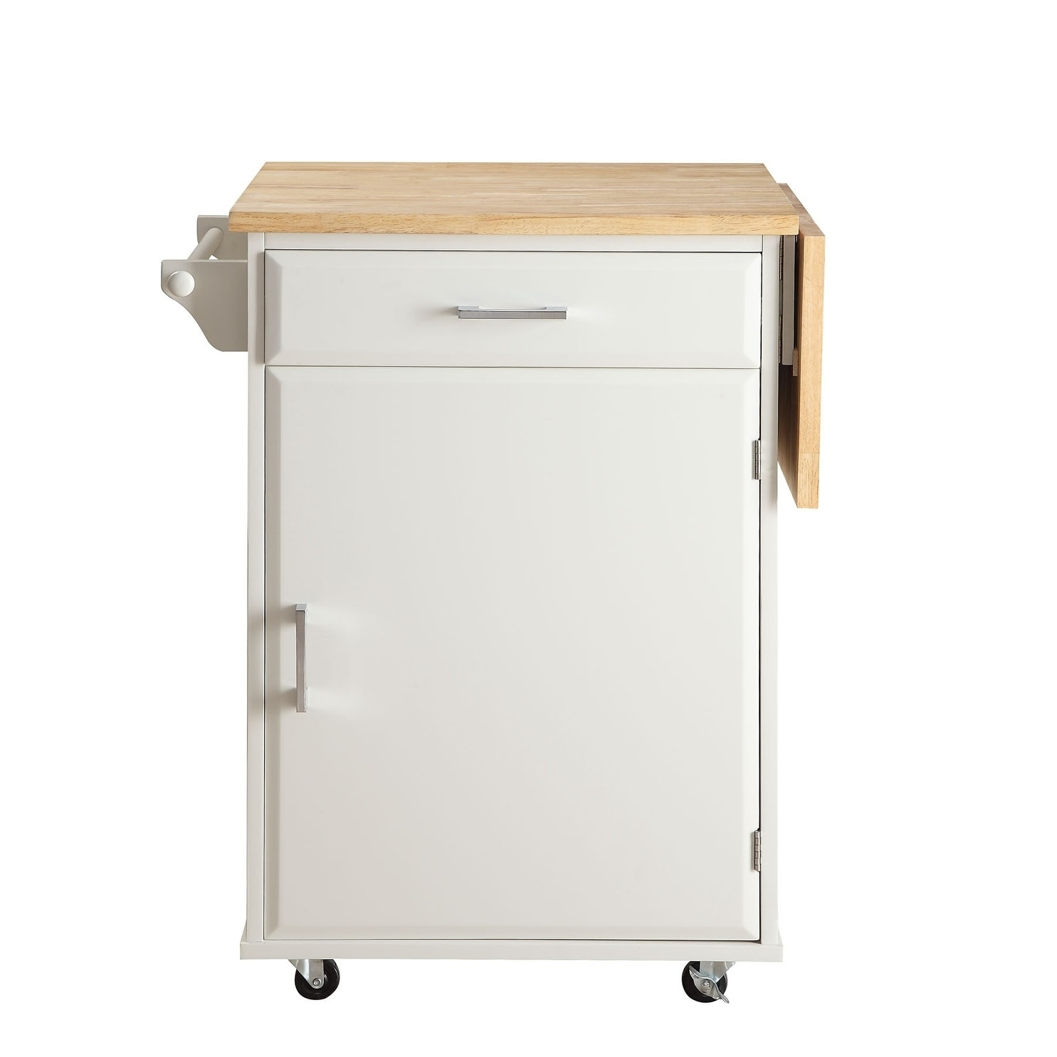 Shop townville white wood small kitchen cart free shipping today overstock com 19897304