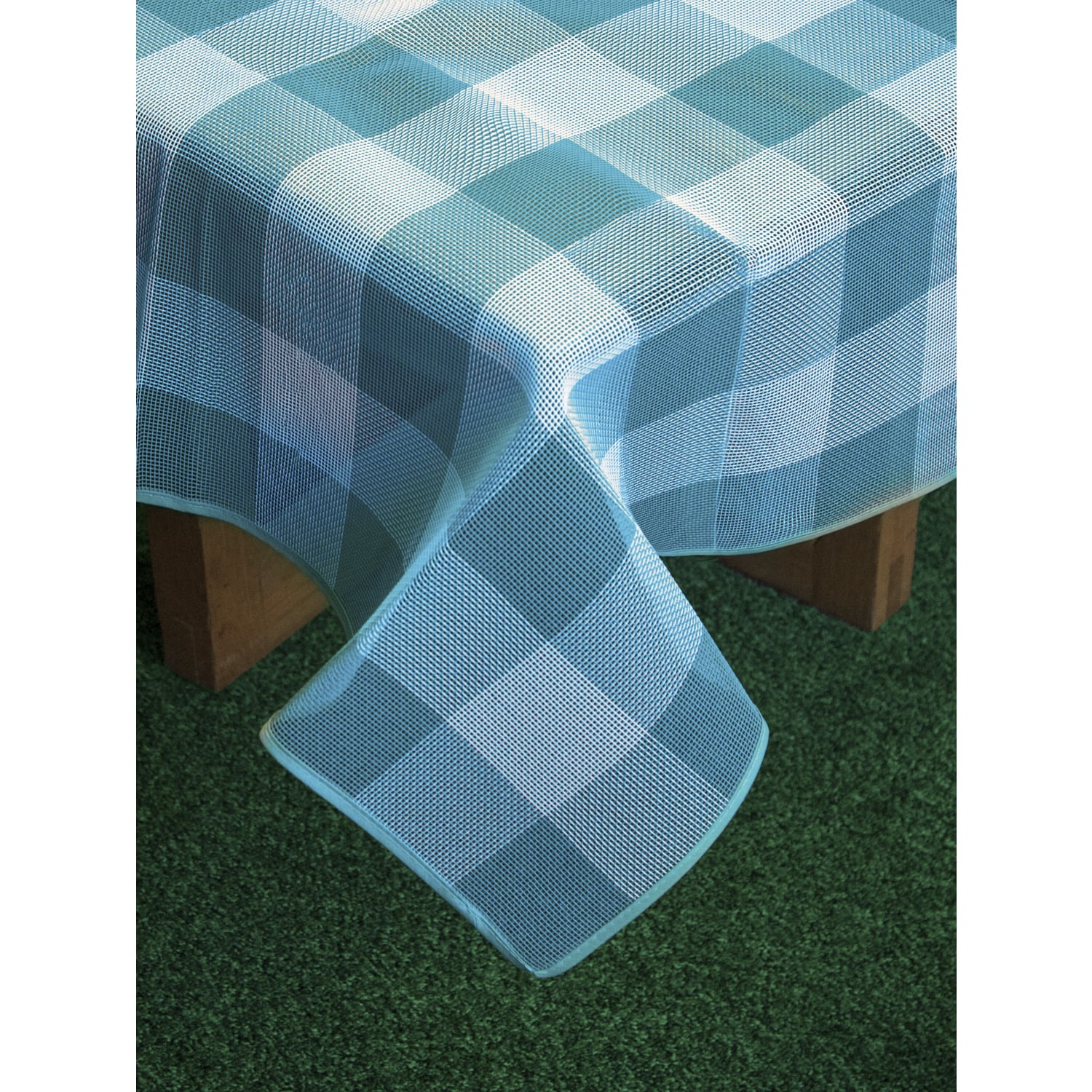 Shop Bistro Check Textaline Indoor/Outdoor Imported Tablecloth - On ...