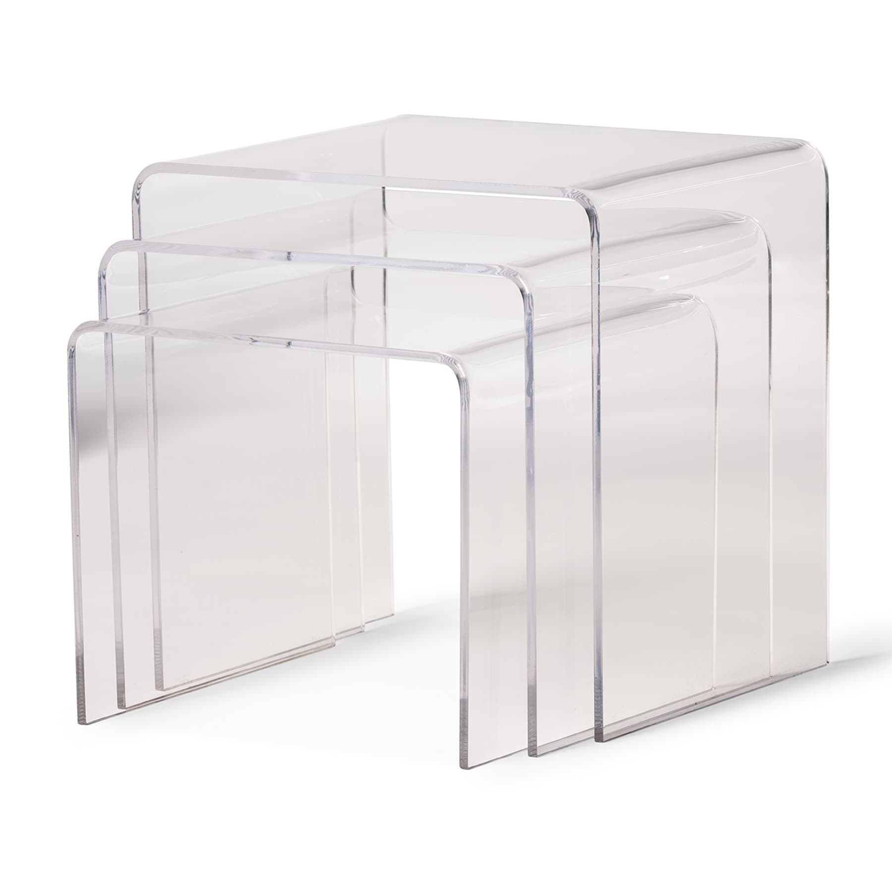 Acrylic Nesting End Tables (Set Of 3)   Free Shipping Today   Overstock.com    10302784