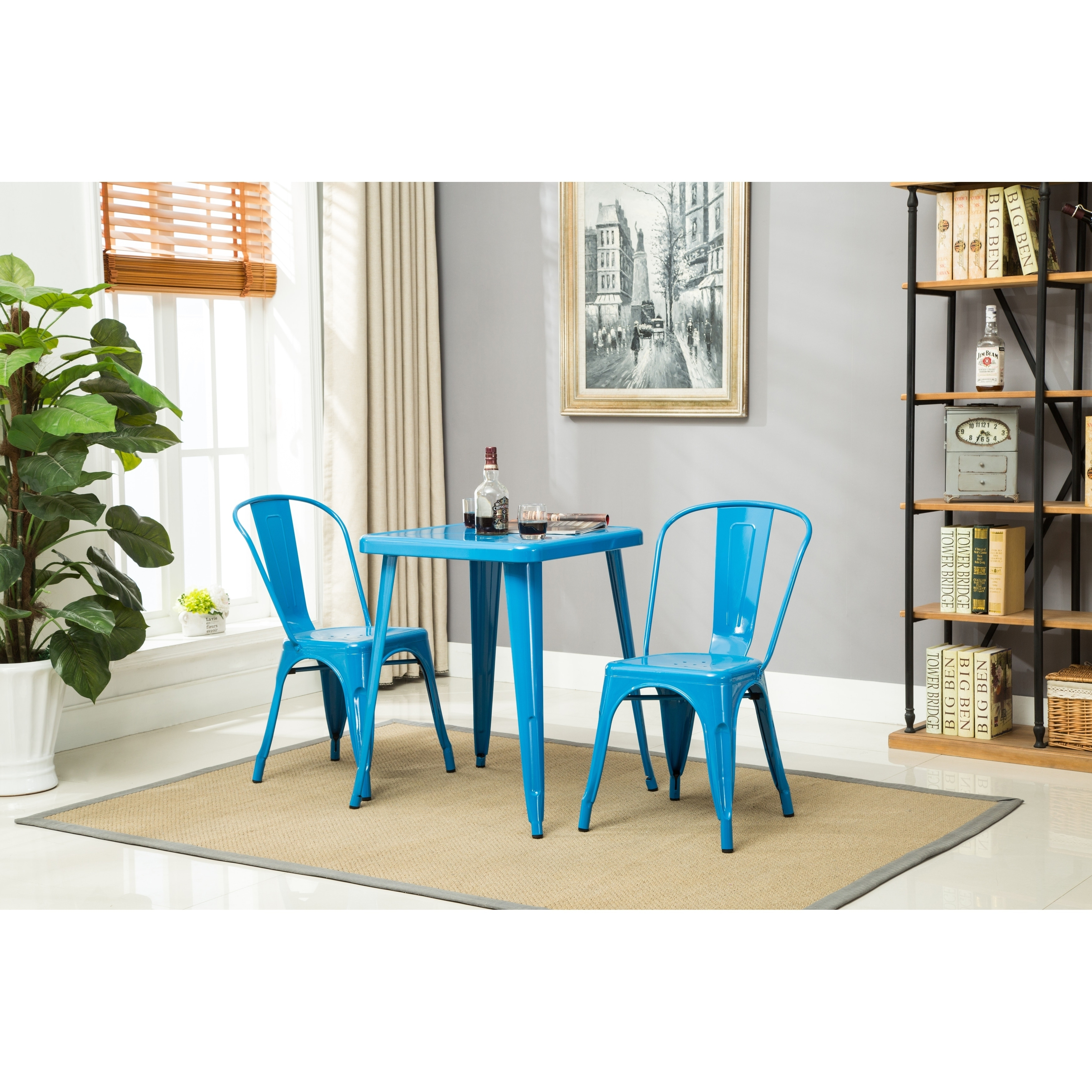 Shop Porthos Home Stackable Rust-Resistant Metal Dining Chair (Set ...