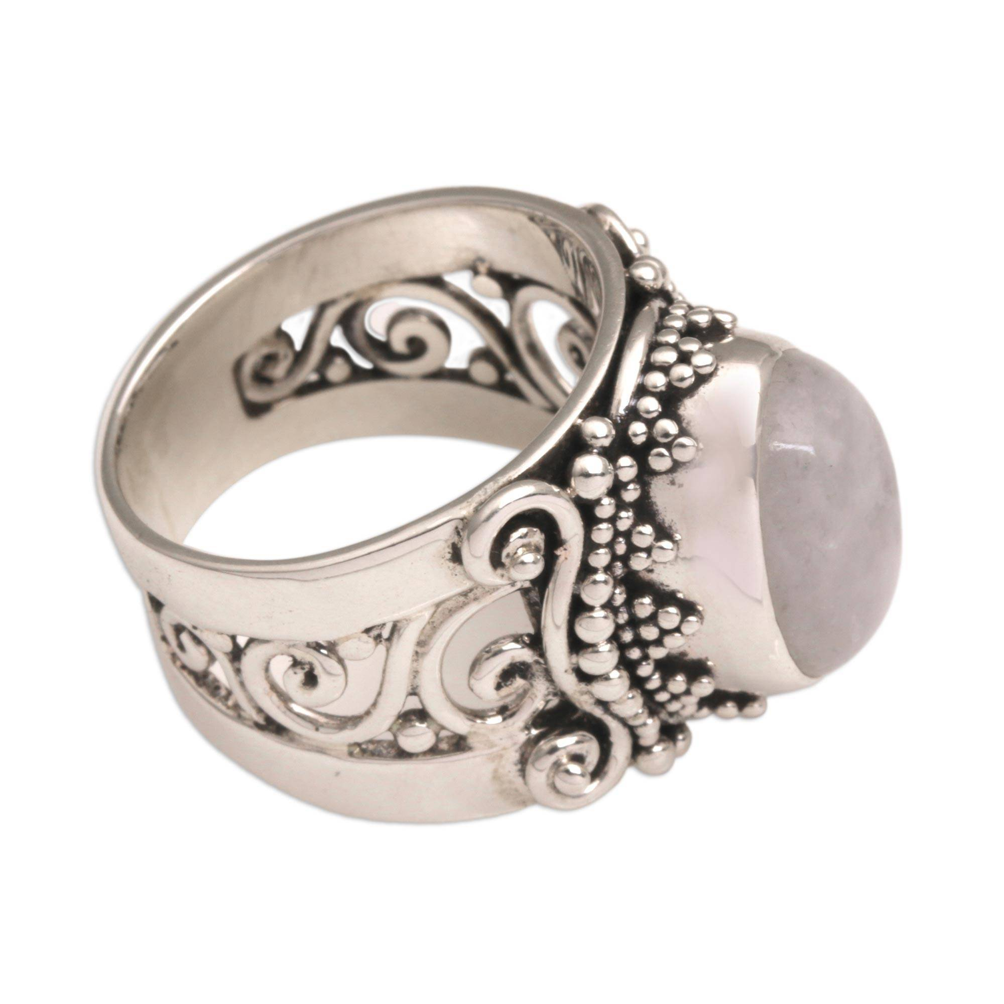 online buy statement full at rainbow round moonstone rings silver com ring ooak