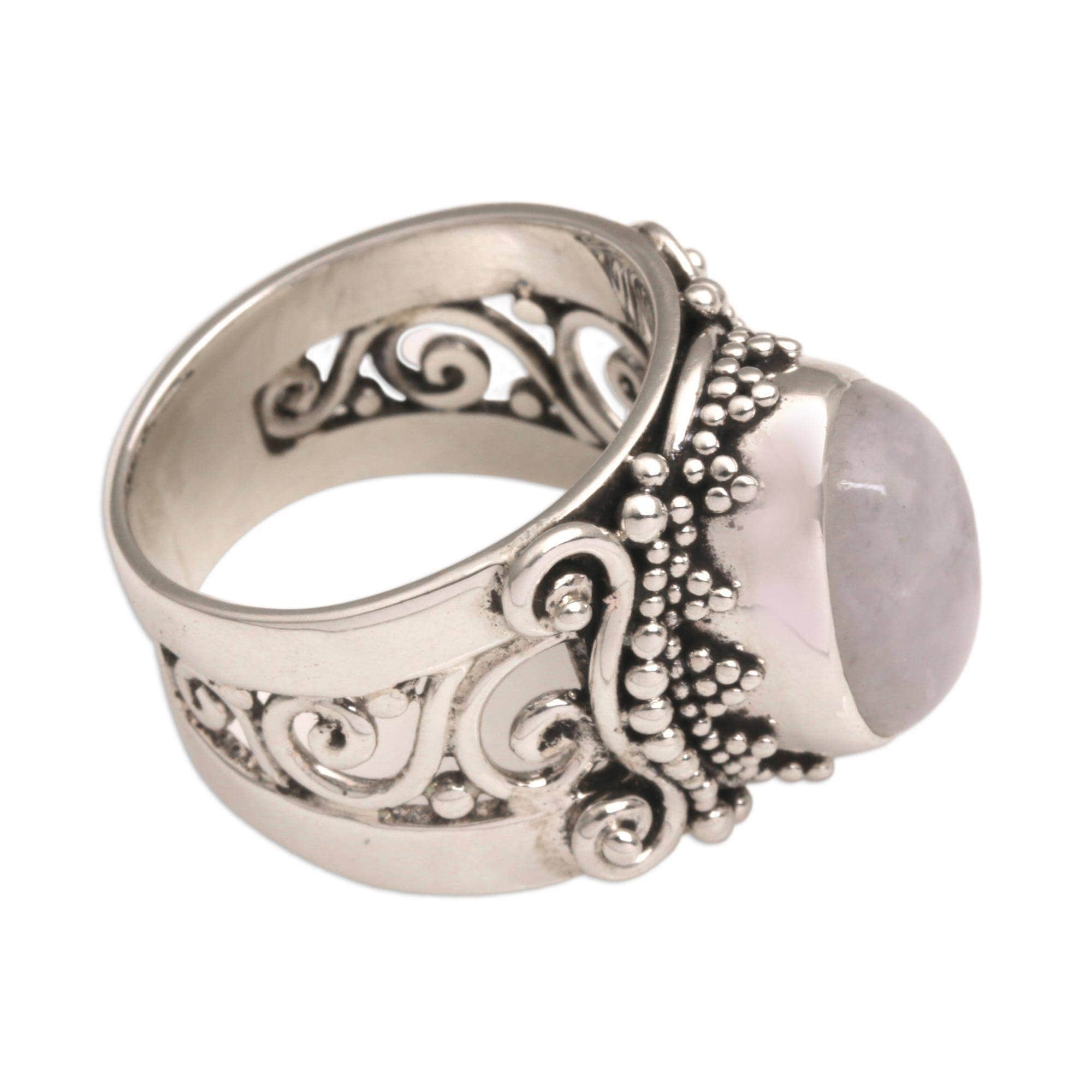 moonstone products rings lumo ring augusta rose