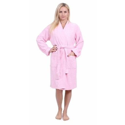 Shop Turkuoise Terry Cloth Robe 100% Premium Turkish Cotton Terry Kimono  Collar - Free Shipping Today - Overstock - 19967184 a9df32469