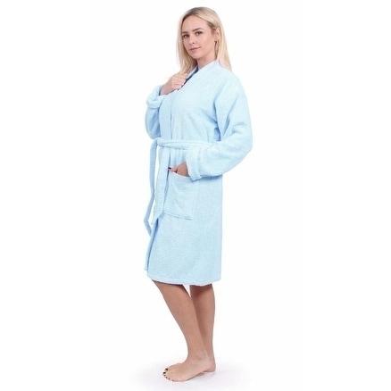 fa4f5c5e6c Shop Turkuoise Terry Cloth Robe 100% Premium Turkish Cotton Terry Kimono  Collar - Free Shipping Today - Overstock - 19967184