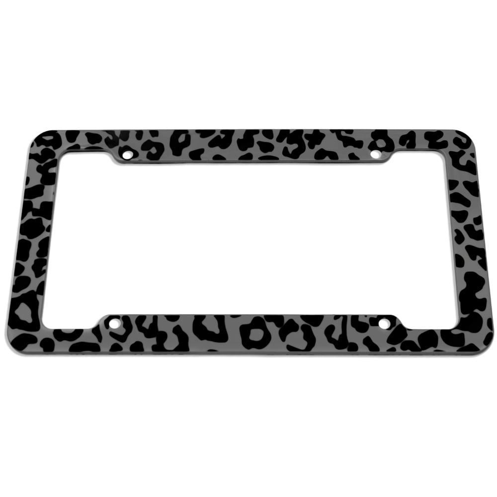 Shop OxGord Plastic License Plate Frame with Leopard Animal Print ...