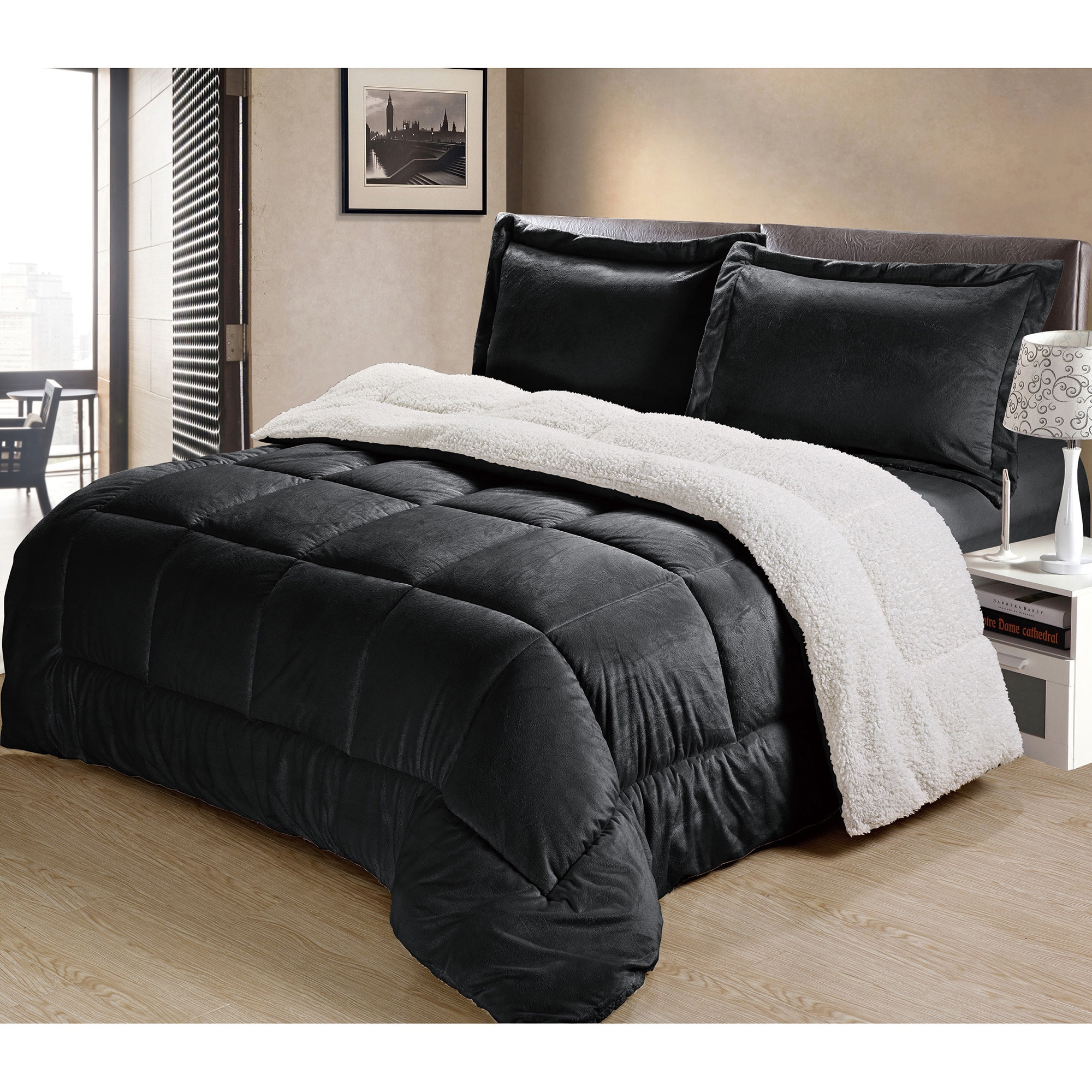comforter microsuede micro essence ip walmart suede dakota home piece set com