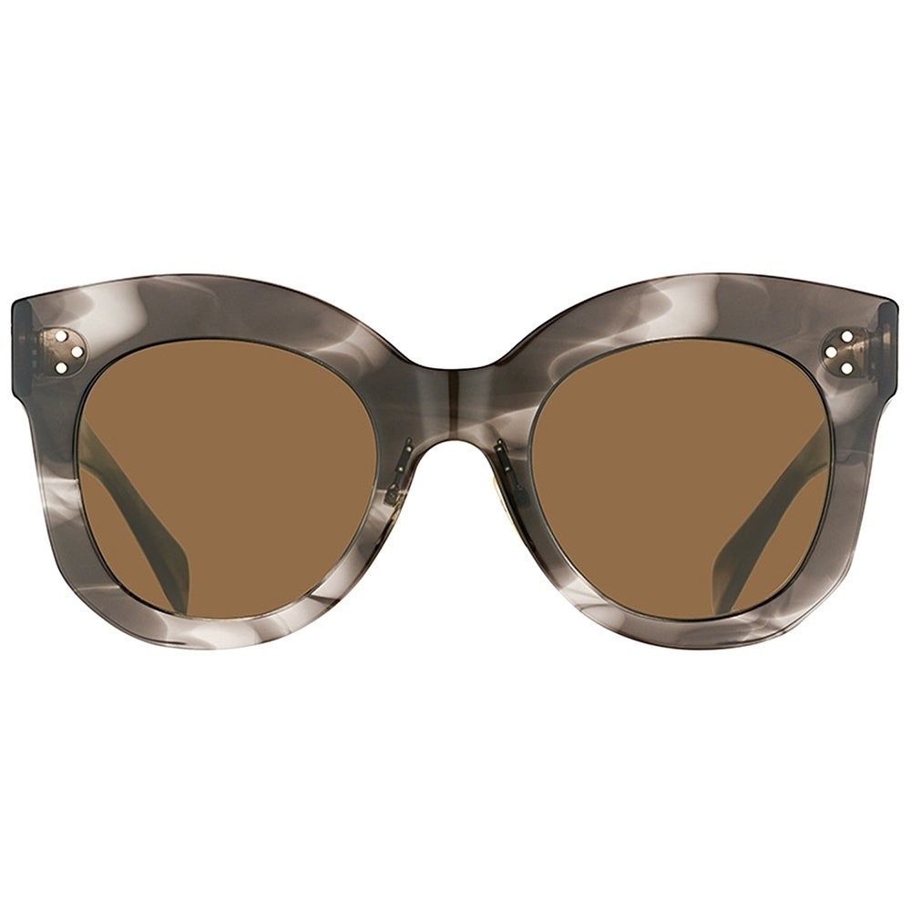 6d7717fd0467 Shop Celine Square CL 41443 Chris 0GQ QS Women Havana Grey Frame Brown Lens  Sunglasses - Ships To Canada - Overstock.ca - 19974471
