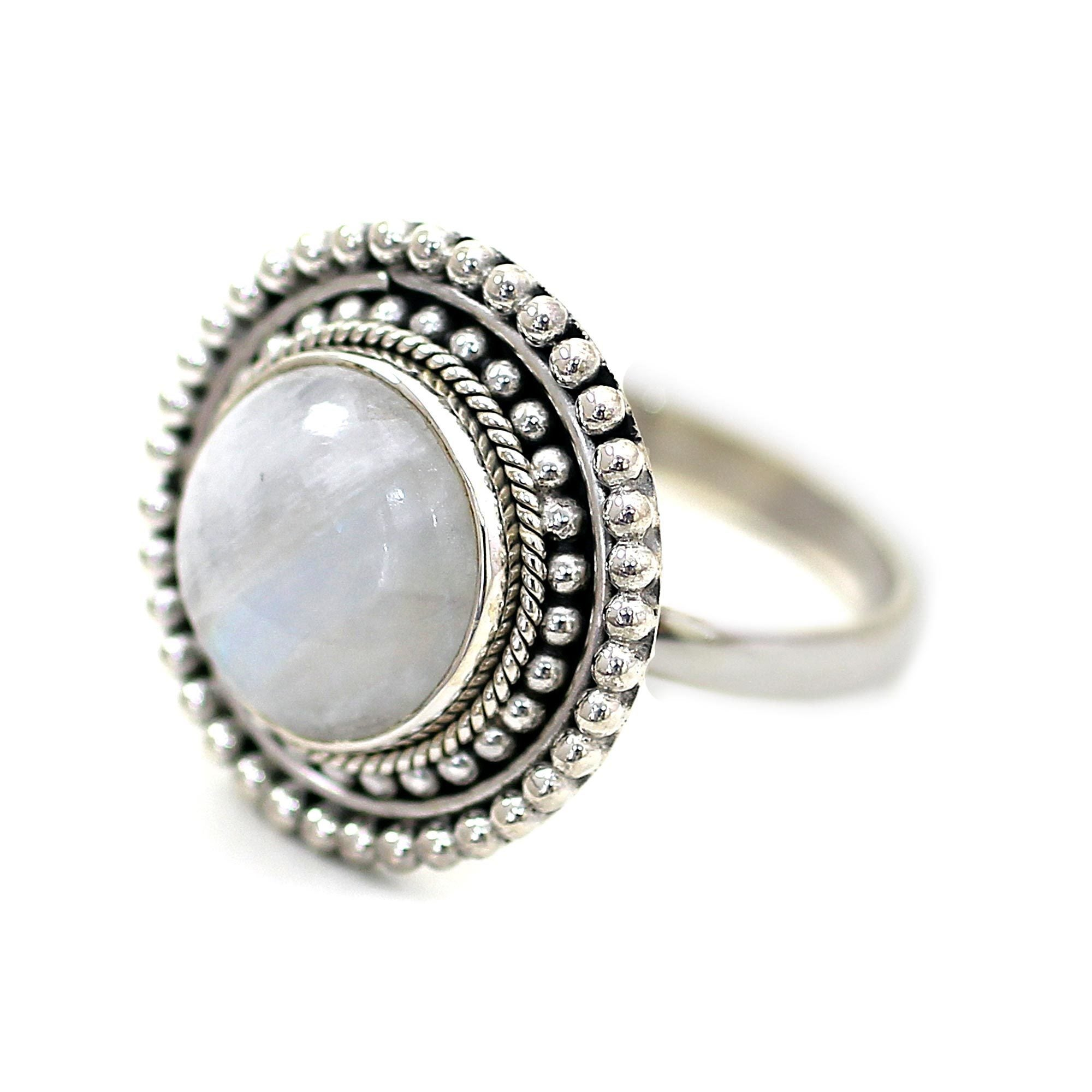 today handmade product moonstone rainbow shipping india free watches silver rings overstock ring jewelry glow sterling