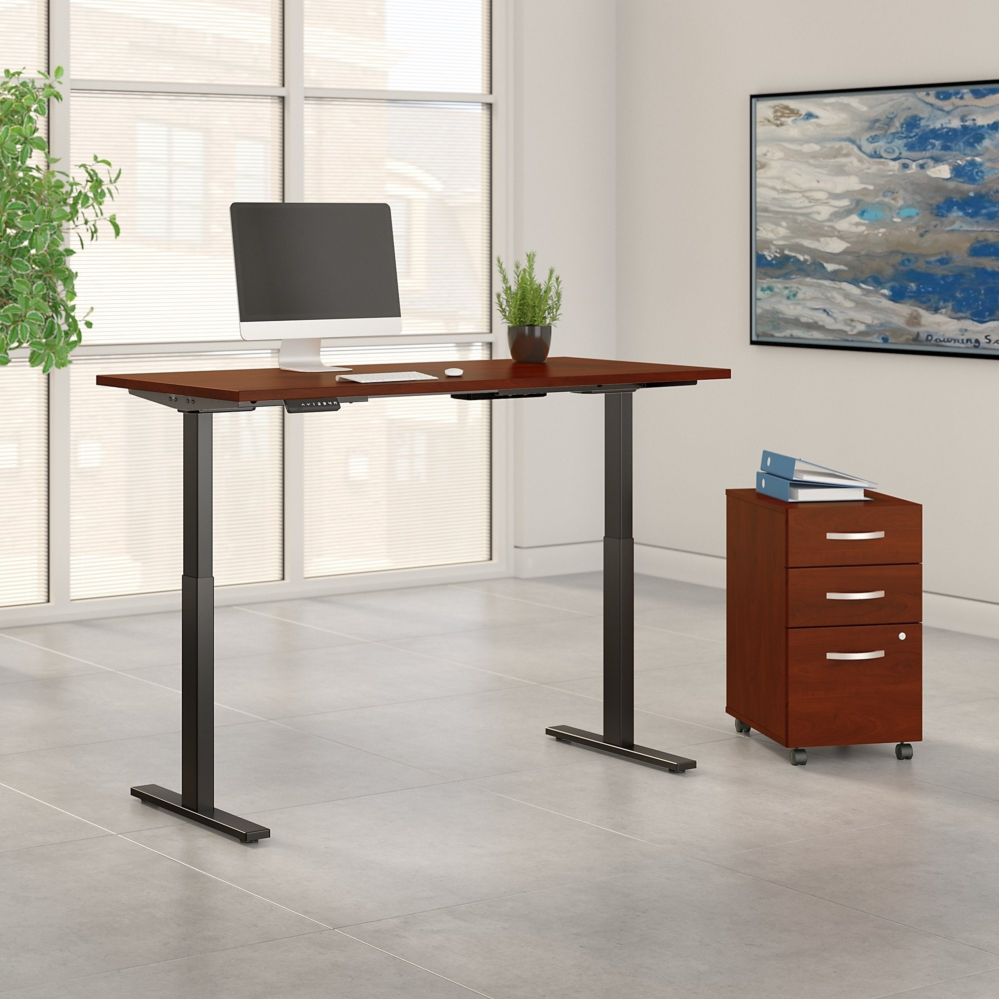 Swell Move 60 Series By 60W Height Adjustable Standing Desk With Storage Home Interior And Landscaping Elinuenasavecom