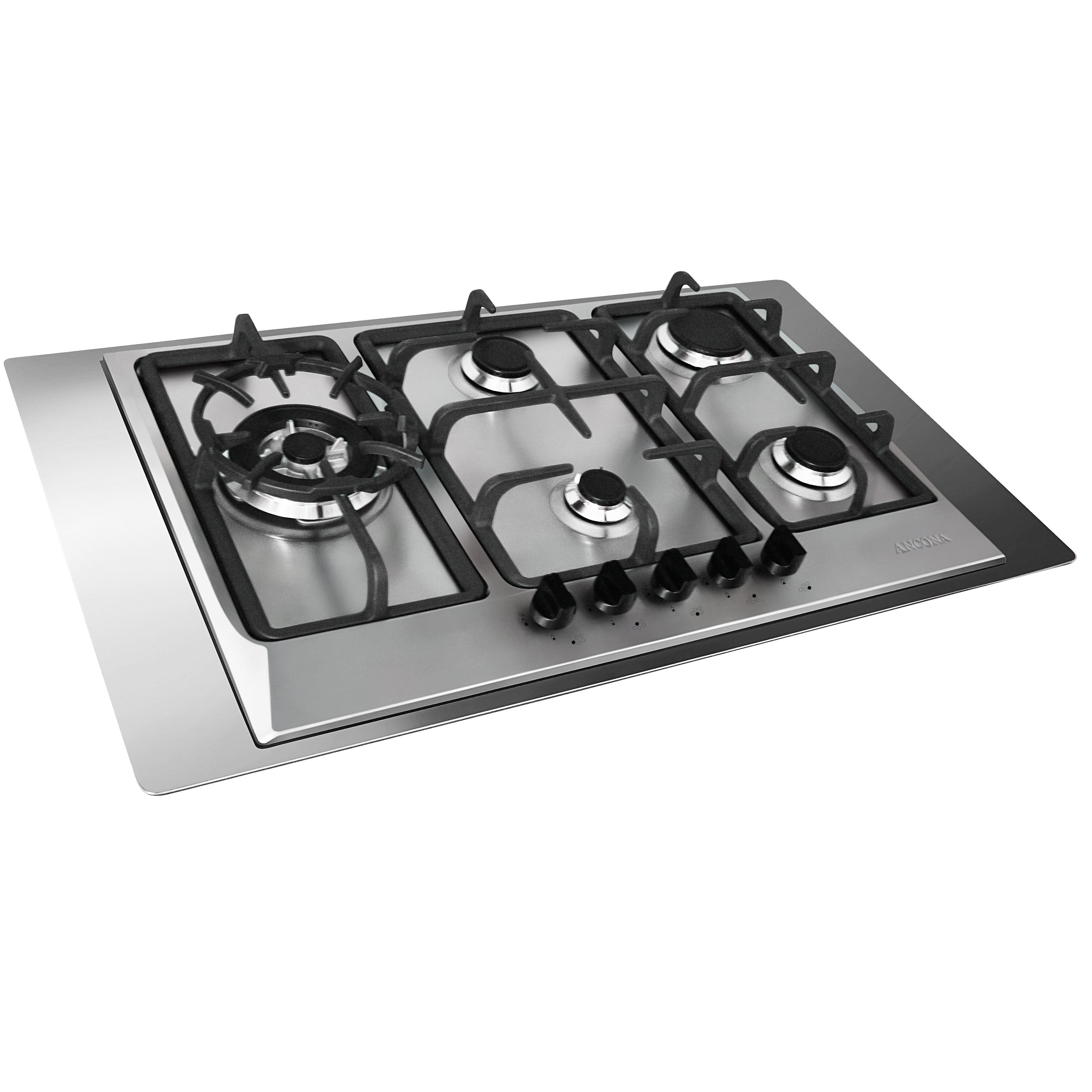 Ancona 30 In Gas Cooktop Stainless Steel With 5 Burners Including Triple Ring Br Burner On Free Shipping Today