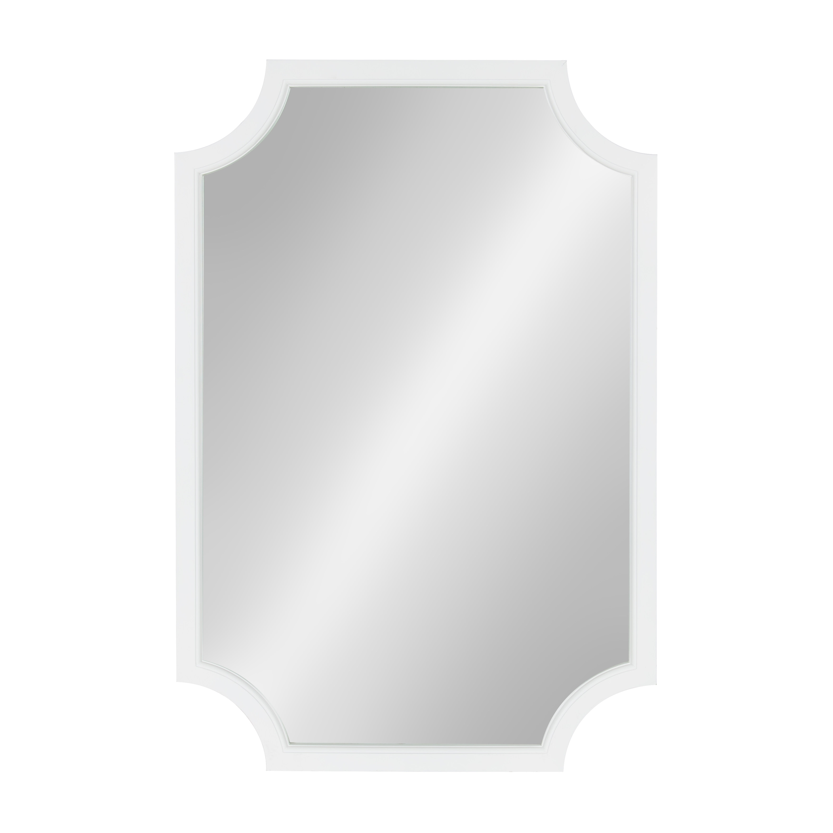 Shop Kate and Laurel Hogan Wood Framed Mirror with Scallop Corners ...