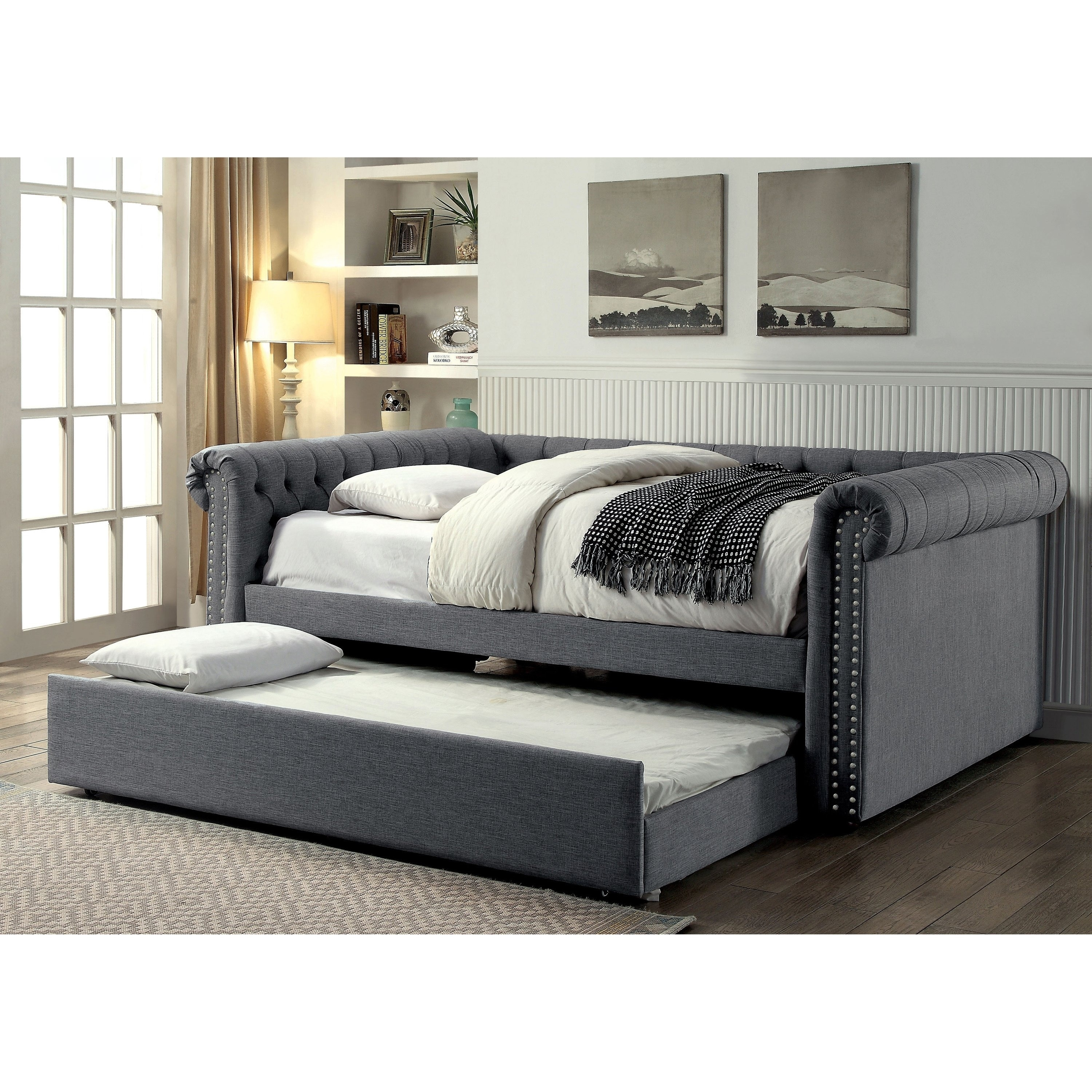 Shop Nellie Contemporary 2 Piece Daybed With Twin Trundle Set By Foa