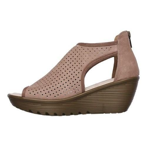 4312c8a4896f Shop Women s Skechers Parallel Beehive Wedge Sandal Mushroom - Free  Shipping Today - Overstock - 19981698