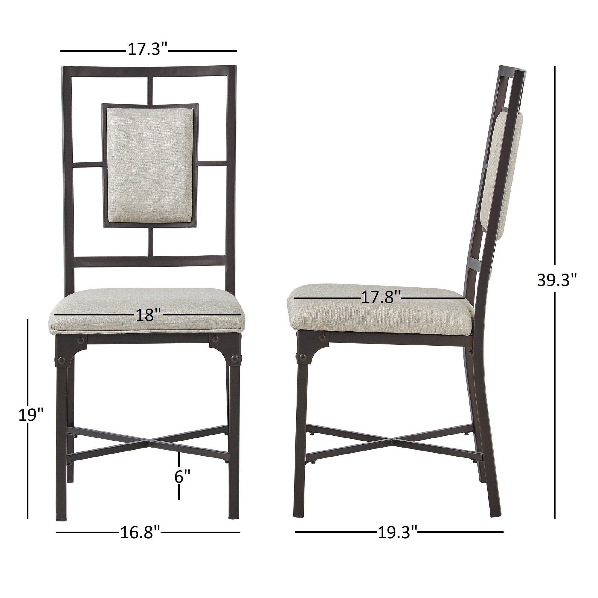 Shop Dania Industrial Dining Chairs (Set Of 2) By INSPIRE Q Classic   Free  Shipping Today   Overstock.com   19983760