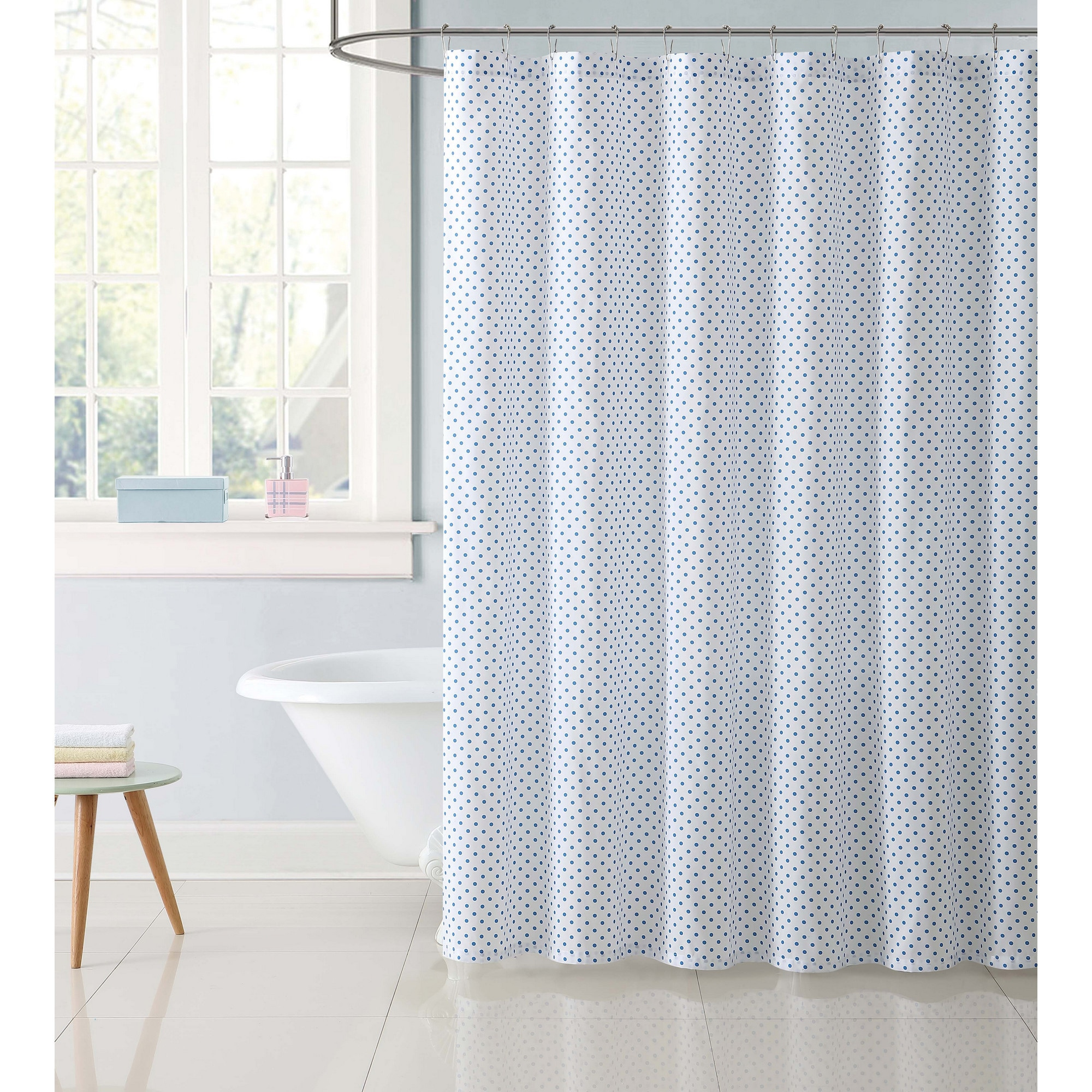 Shop Truly Soft Everyday Printed Dot Shower Curtain - Free Shipping ...