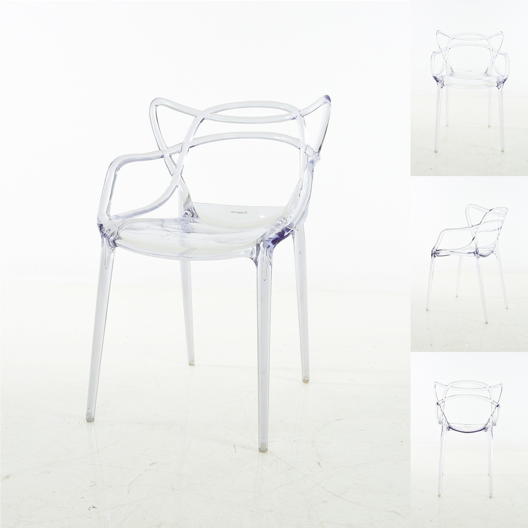Shop Enstrudel Transparent Polycarbonate Dining Chairs (Set Of 2)   On Sale    Free Shipping Today   Overstock.com   19983972