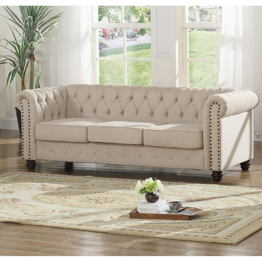 Shop Best Master Furniture Tufted Upholstered Sofa And Loveseat
