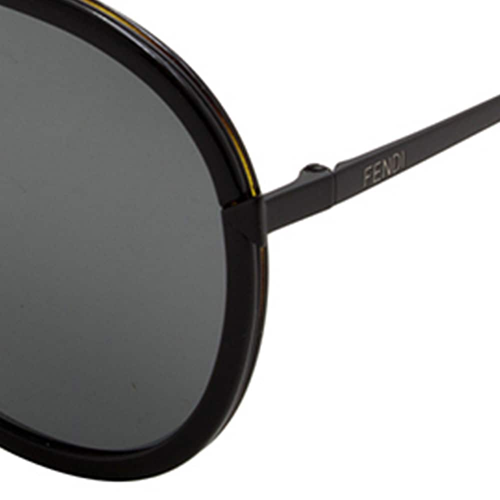 87b15cafc9b9 Shop Fendi Women s FF 0155 S Black Sunglasses - Free Shipping Today -  Overstock - 19984091
