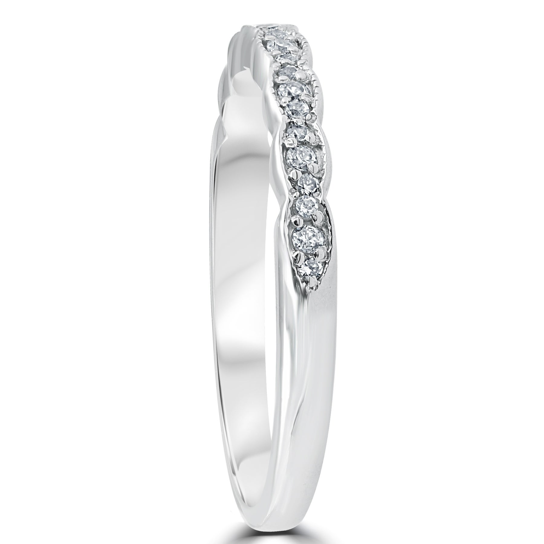 Bliss 14k White Gold 15 ct TDW Diamond Stackable Ring Womens