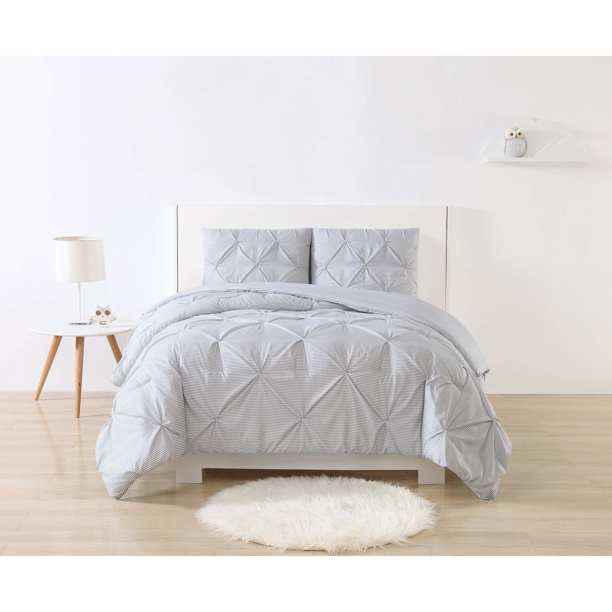 set season all piece itm pleat luxurious quality pintuck pinch highest wrinkle decorative full comforter resistant queen