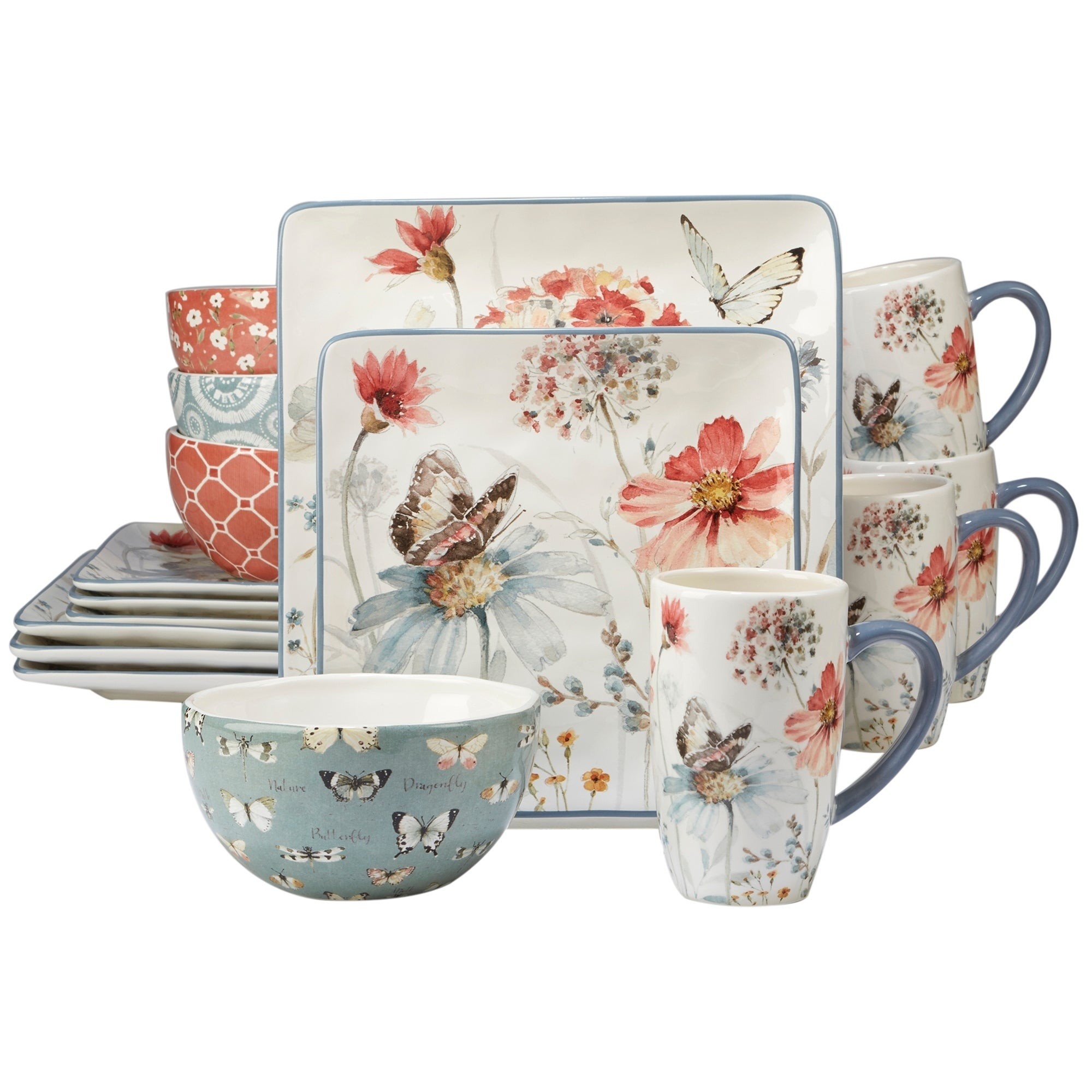 Shop Certified International Country Weekend 16-piece Dinnerware Set - On Sale - Free Shipping Today - Overstock.com - 19985311  sc 1 st  Overstock.com & Shop Certified International Country Weekend 16-piece Dinnerware Set ...