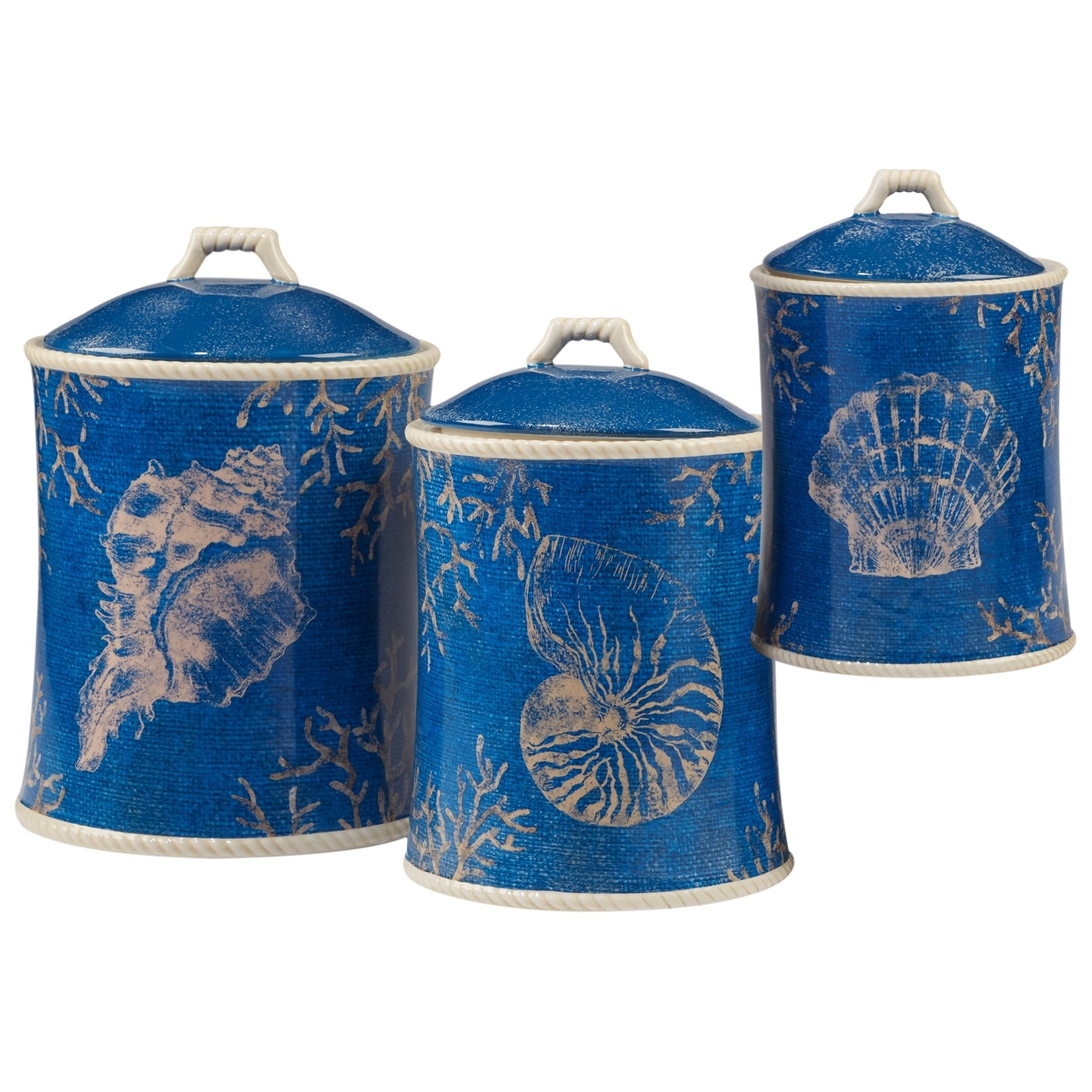 Shop Certified International Seaside 3-piece Canister Set - Free ...