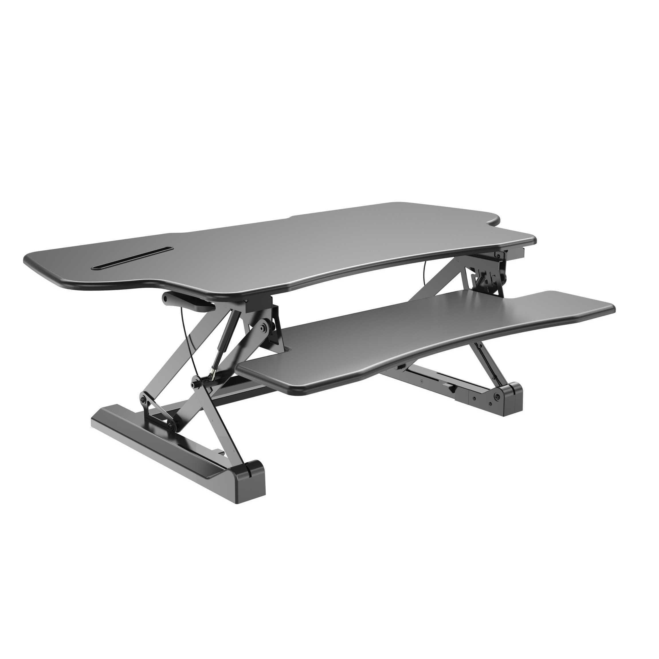 sit adjustable detail standing riser gas to spring tabletop height desk