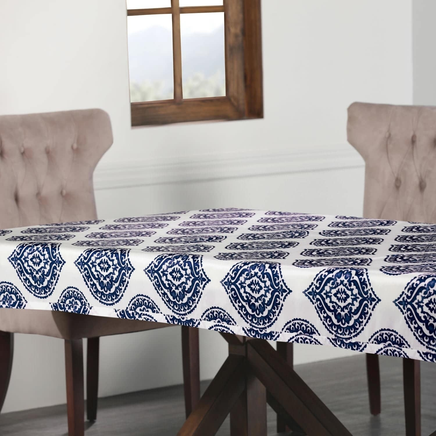 Shop exclusive fabrics donegal designer faux silk taffeta outdoor table cloth free shipping on orders over 45 overstock 19989284