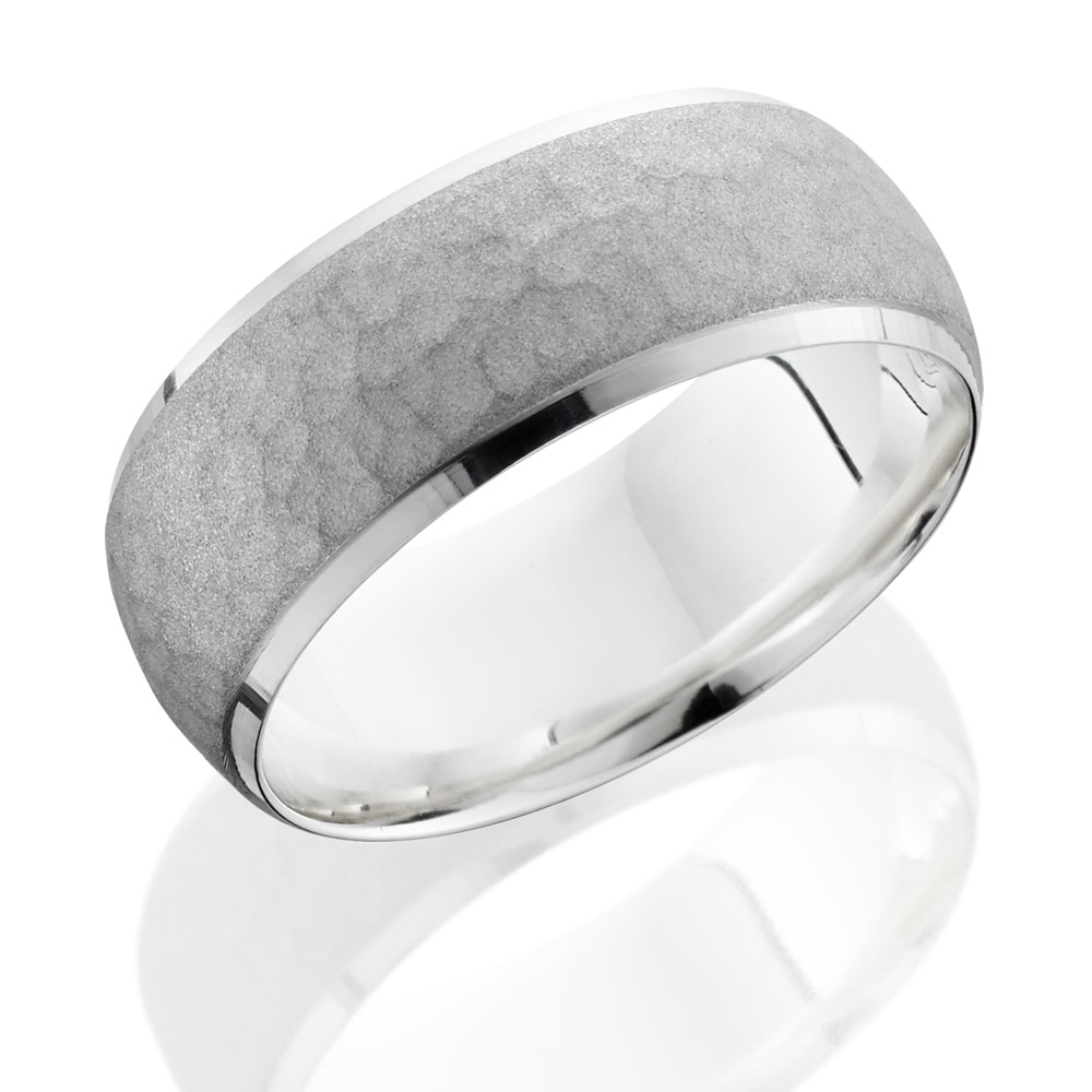 yellow brushed gold wedding platinum mens sandblast band