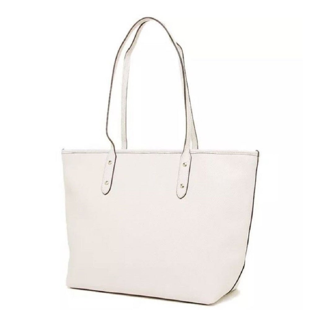 fc8c7488b872 Shop Coach 58846 Crossgrain City Zip Tote White - On Sale - Free Shipping  Today - Overstock - 19990734