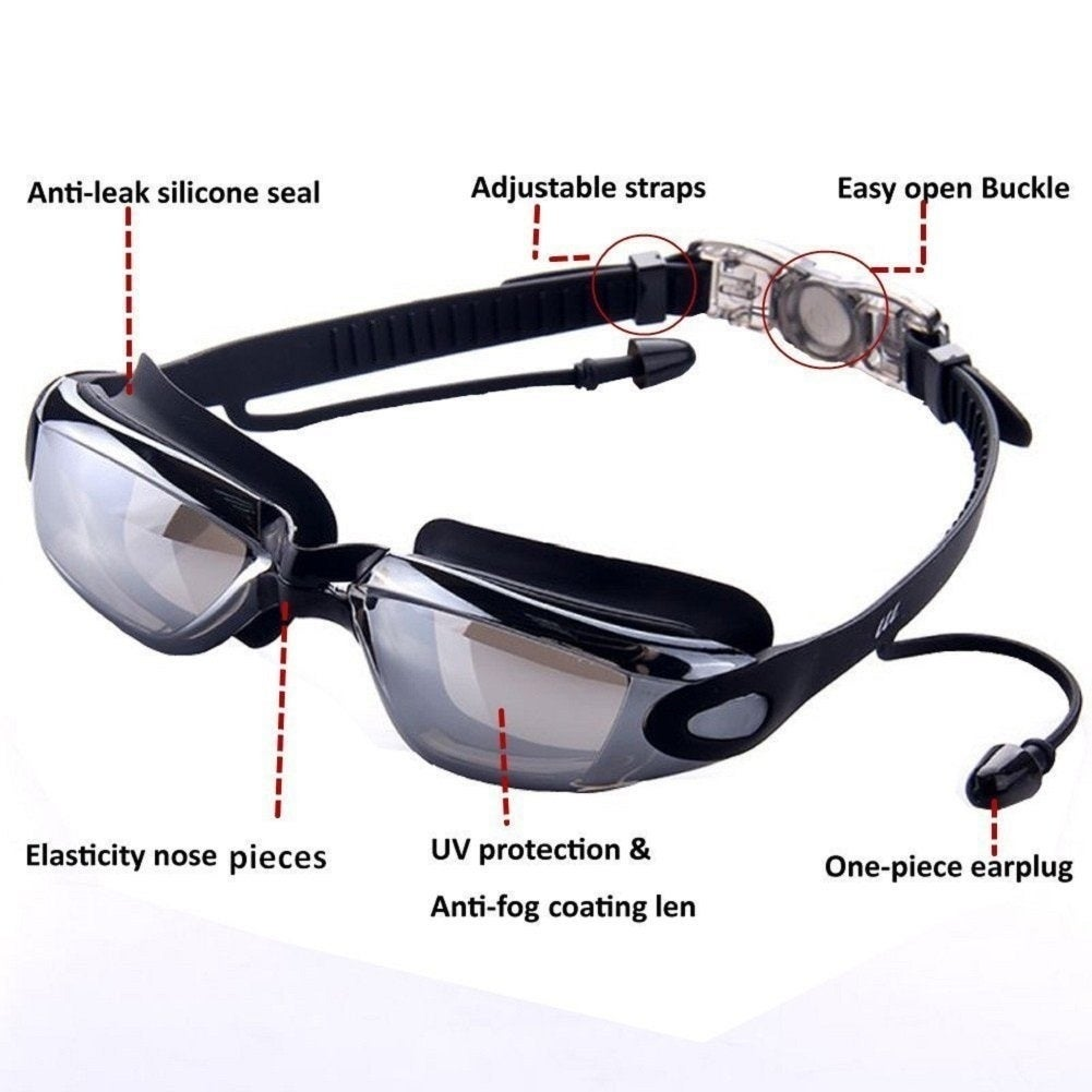 f735488dbde Shop Waterproof Aegend Swimming Goggles BENTEVI Safety Clear UV protection  No Leaking Anti-Fog Easy to put on and Take Off - Free Shipping On Orders  Over ...