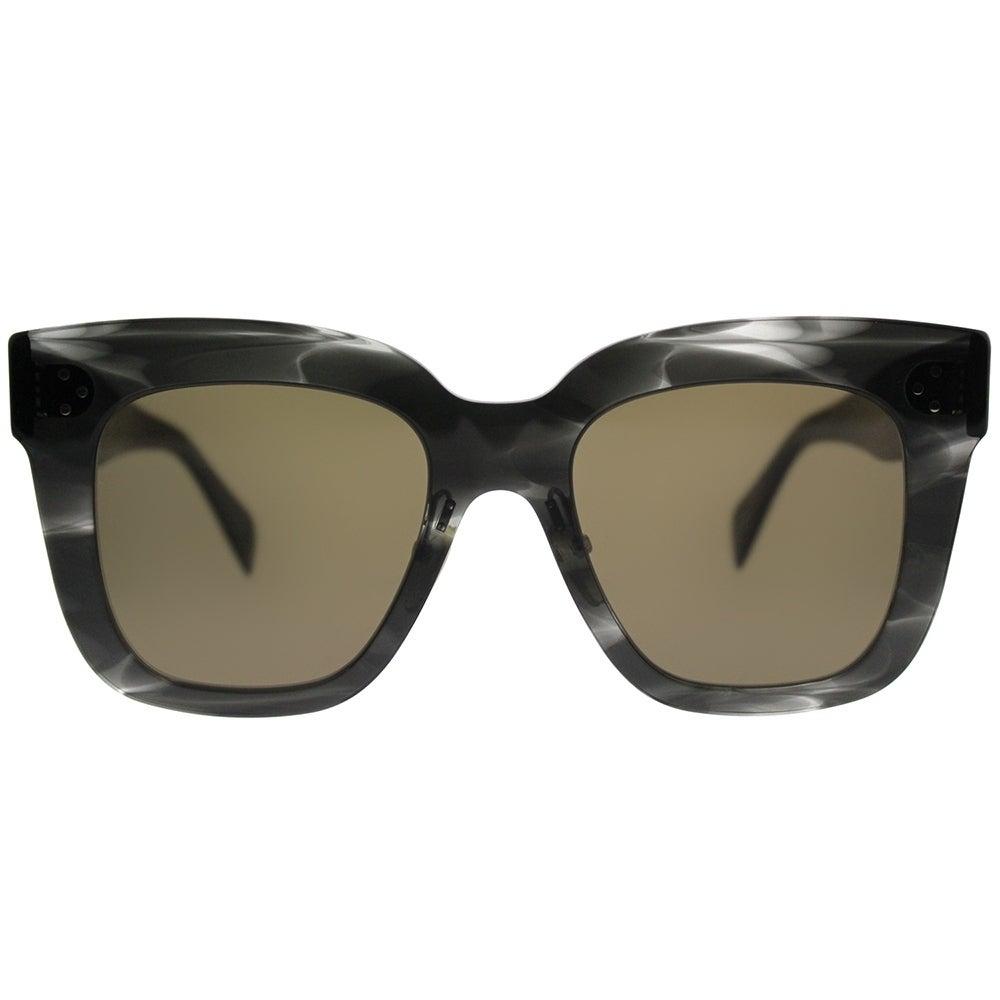 7d5945090db Shop Celine Square CL 41444 Kim 0GQ QS Women Havana Grey Frame Brown Lens  Sunglasses - Free Shipping Today - Overstock - 19992569