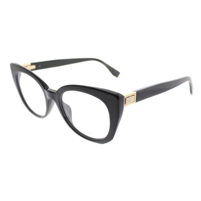 d47853ed8e9b Shop Fendi Cat-Eye FF 0272 807 Women Black Frame Eyeglasses - On Sale -  Free Shipping Today - Overstock - 19992574