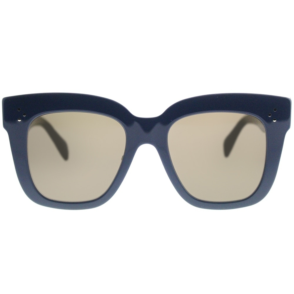 33c1548b26033 Shop Celine Square CL 41444 Kim 07G Women Blue Frame Brown Lens Sunglasses  - Ships To Canada - Overstock - 19992577