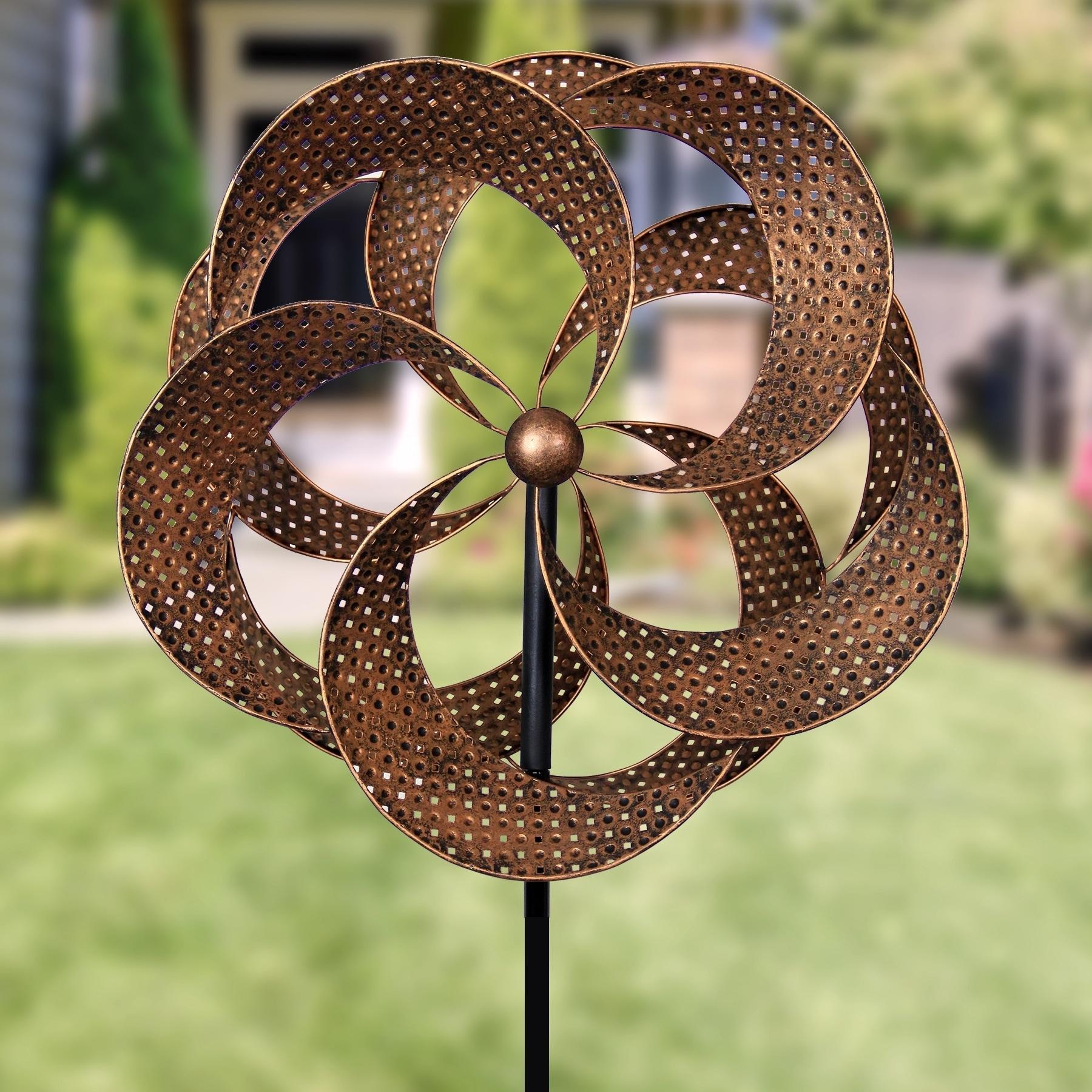 Shop Giant Bronze Pinwheel Garden Stake w/ Double Spinner - Free ...