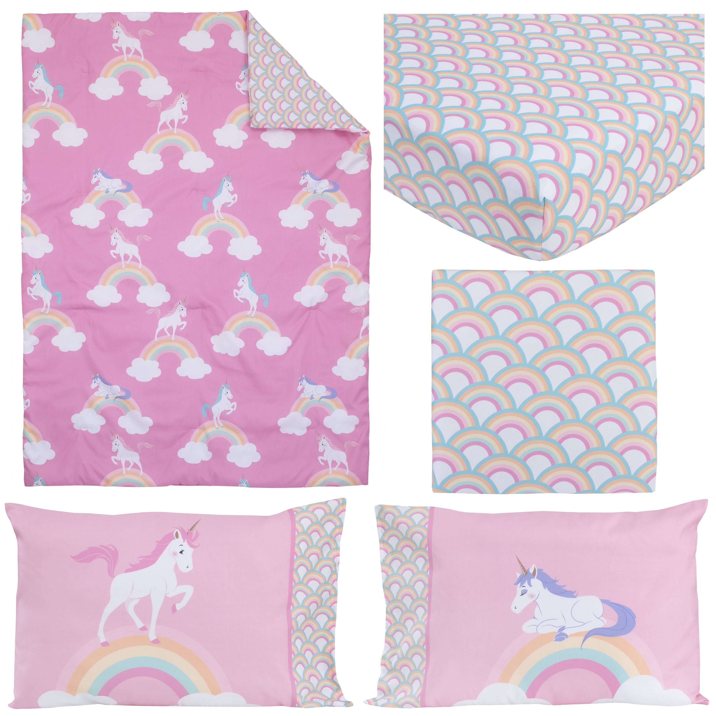 Little Tikes Rainbows & Unicorns 4-piece Toddler Comforter Set ...
