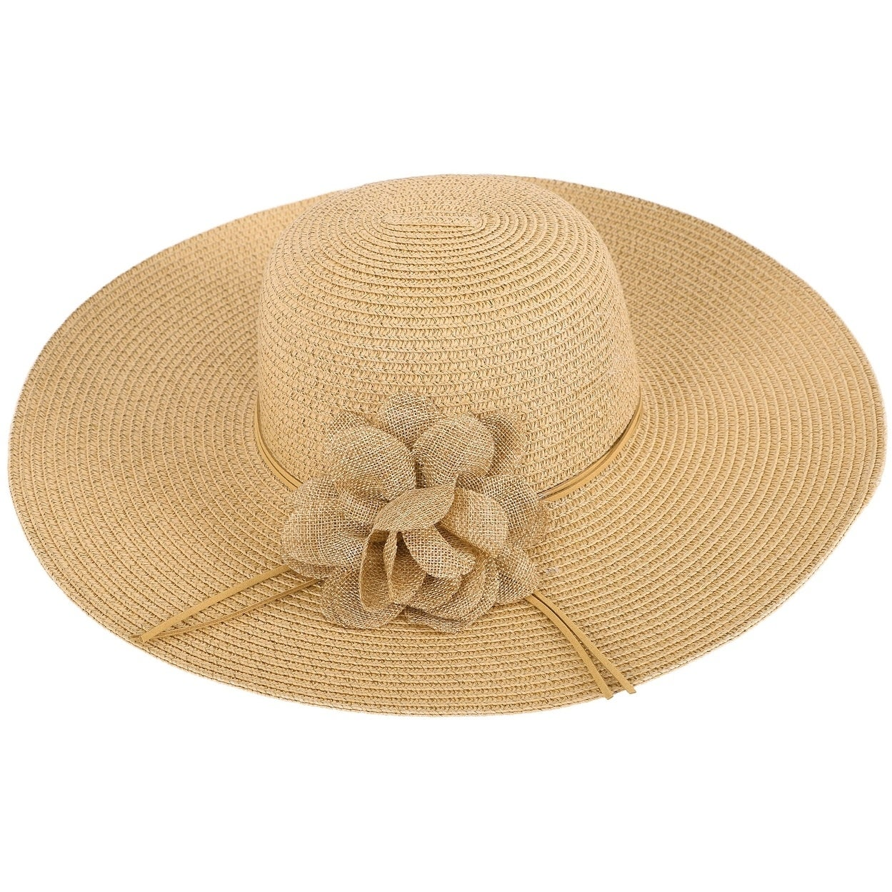 eb64164f2a3 Women s Summer Wide Brim Straw Sun Hat w  Chin Strap - Free Shipping On  Orders Over  45 - Overstock - 25909743