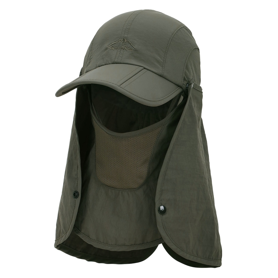 025843fd7a75f 360° Sun Protection Hat-Fishing Hat with Removable Neck and Face Flap