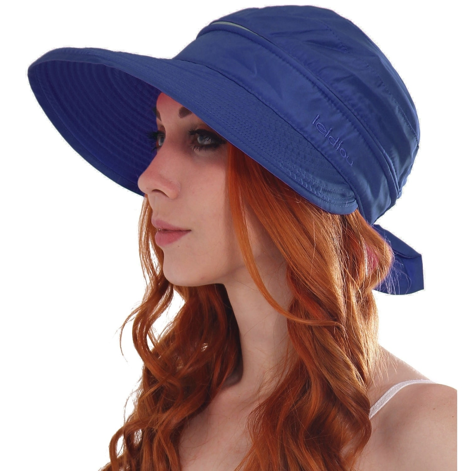 Shop Women s UPF 50+ UV Sun Protective Convertible Beach Hat Visor - On  Sale - Free Shipping On Orders Over  45 - Overstock - 19996325 9fb9397bb13c