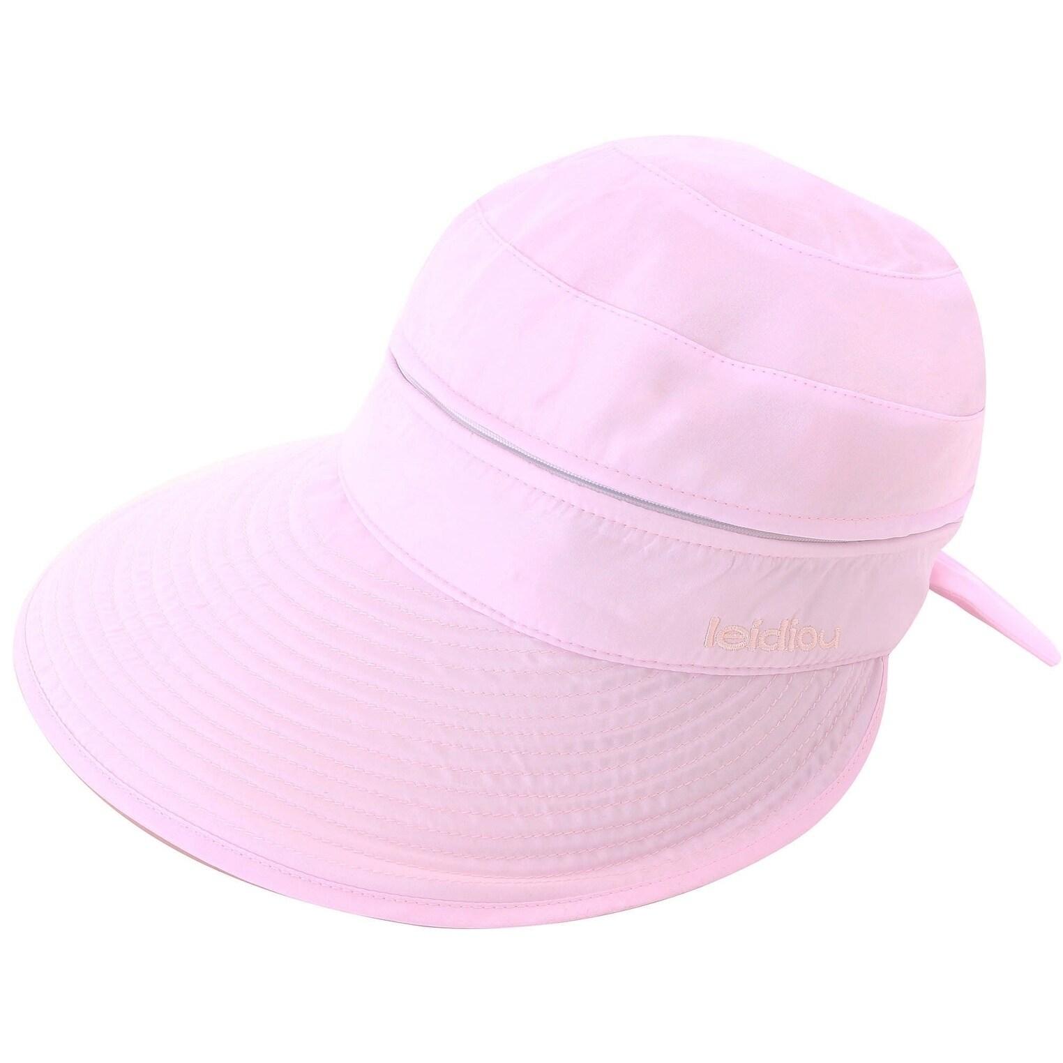 e48ab807b Women's UPF 50+ UV Sun Protective Convertible Beach Hat Visor