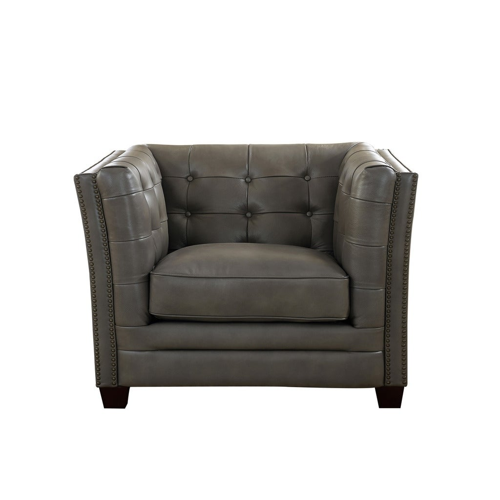 Good Milan Leather Sofa And Chair Set   Free Shipping Today   Overstock    25910385
